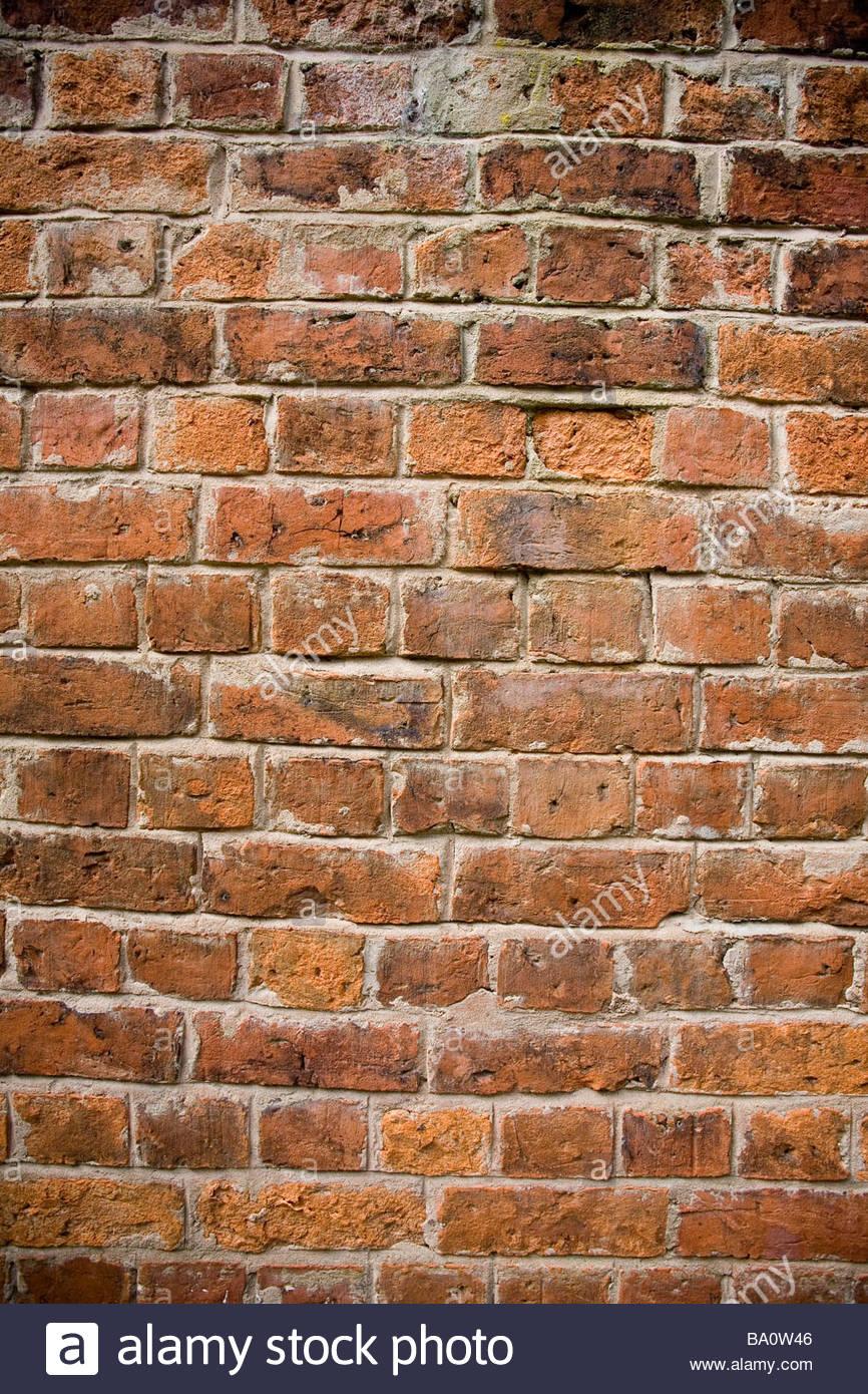 an old brick wall - Stock Image