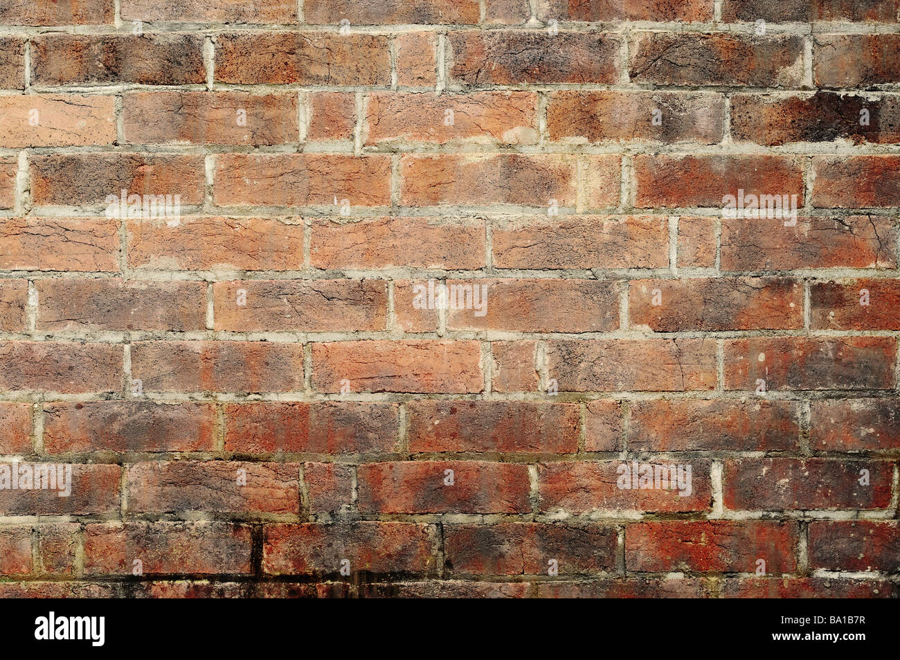 great image of an old and grungy brick wall - Stock Image