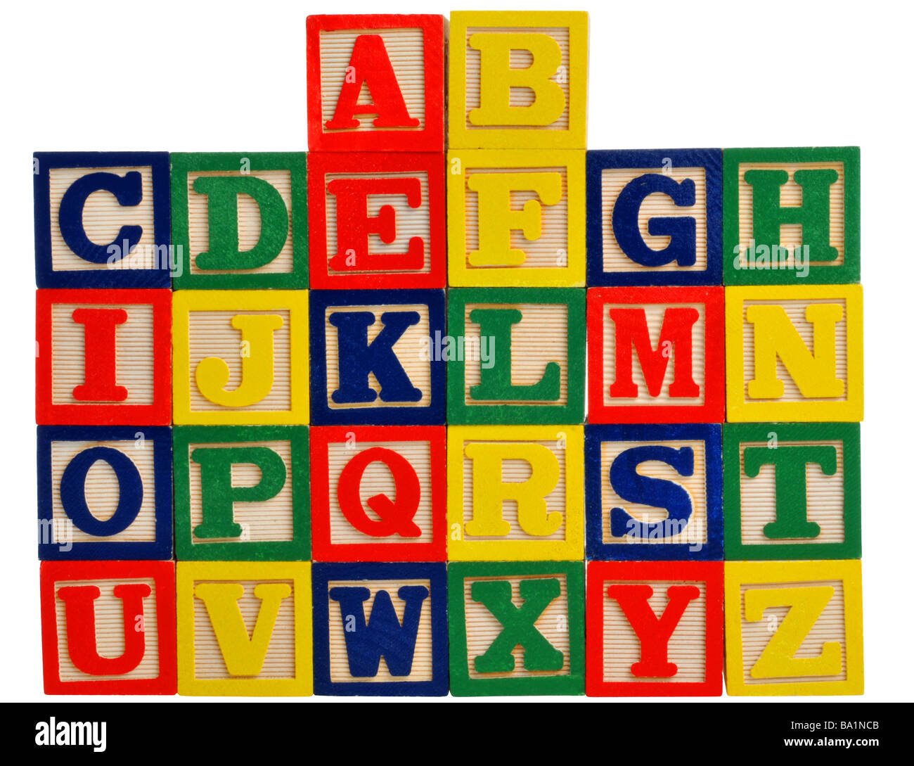 alphabet in wooden letter blocks stock photo 23395691 alamy