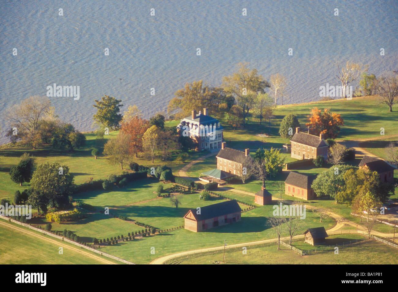 Shirley Plantation, Charles City, Virginia, USA Stock Photo