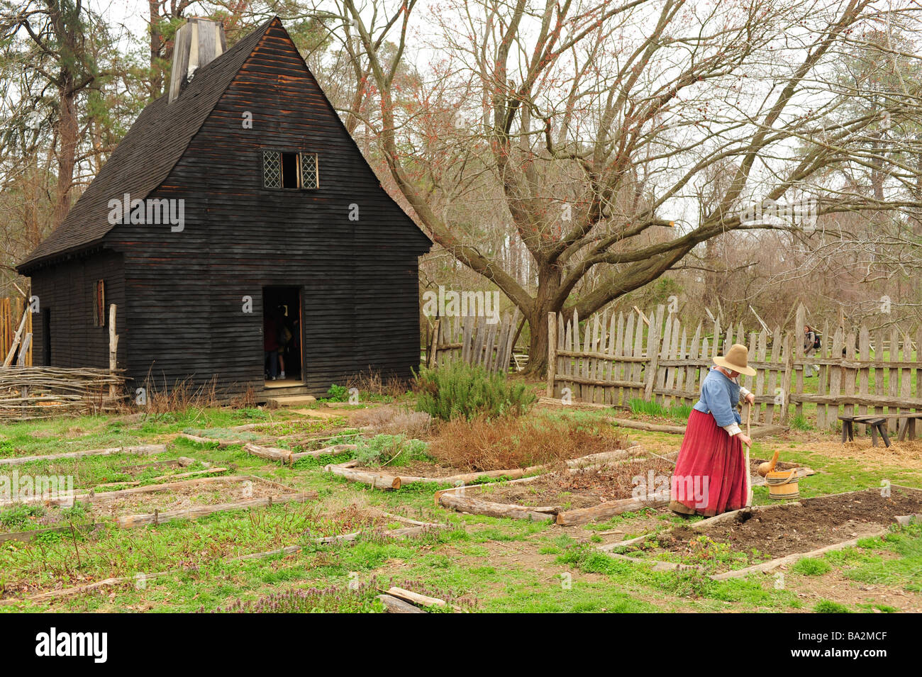 usa-maryland-historic-st-marys-city-md-first-capitol-colonial-village-BA2MCF.jpg