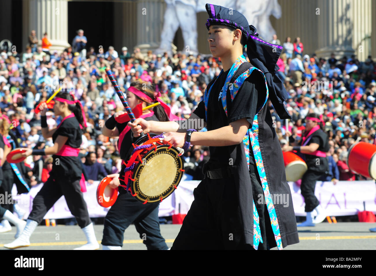 Washington DC The National Cherry Blossom festival and parade on Constitution Avenue Stock Photo