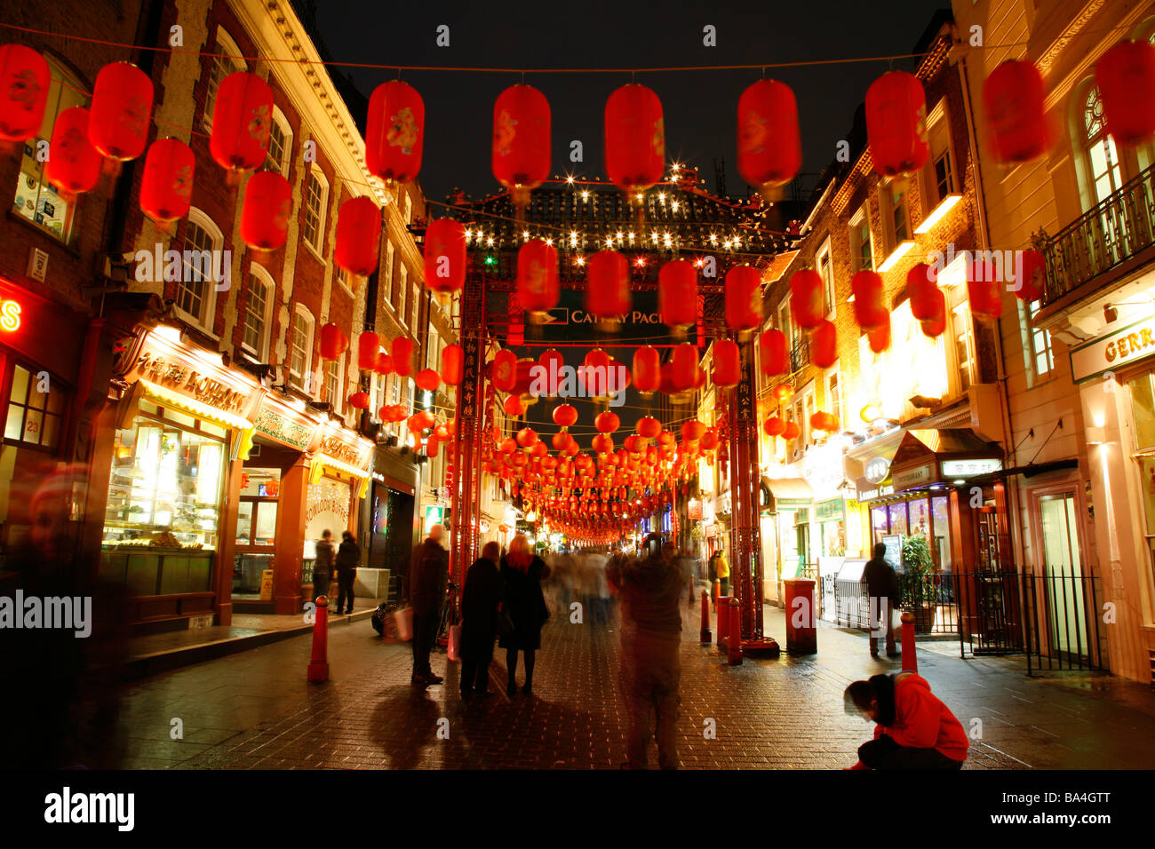 Chinese New Year in Gerrard Street, Chinatown, London ...