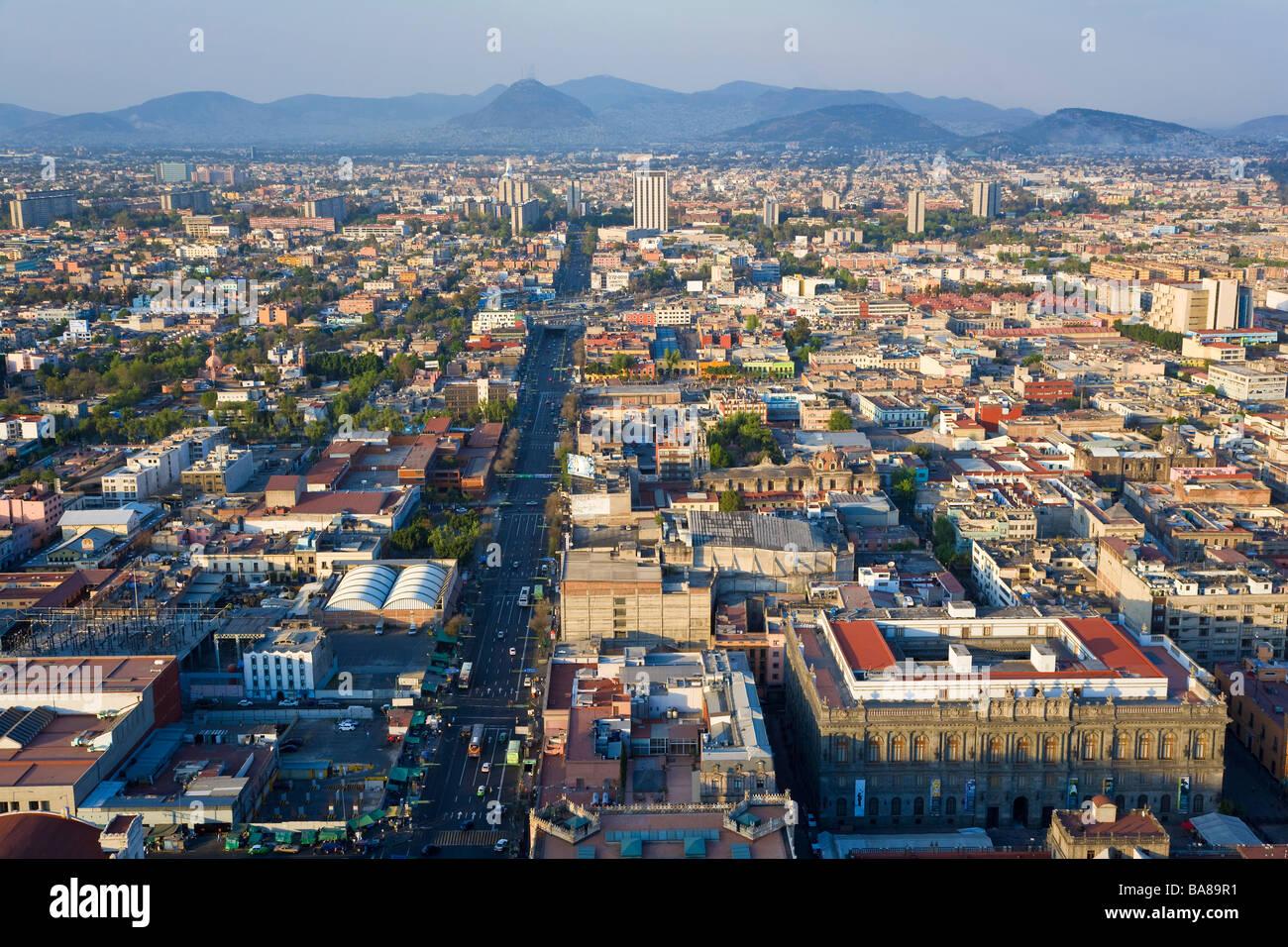 View over Mexico City Mexico - Stock Image