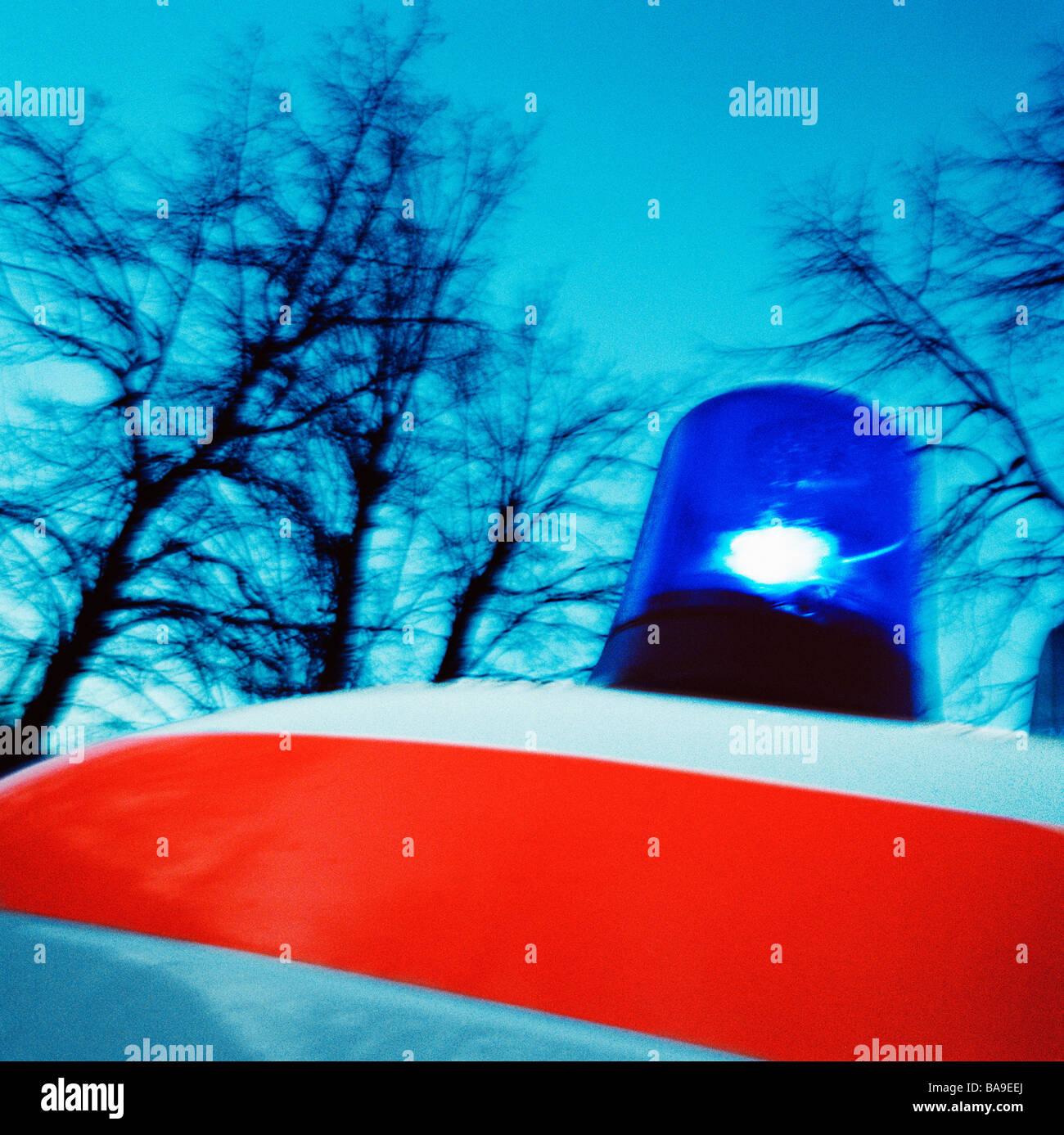 Ambulance siren, close-up. - Stock Image