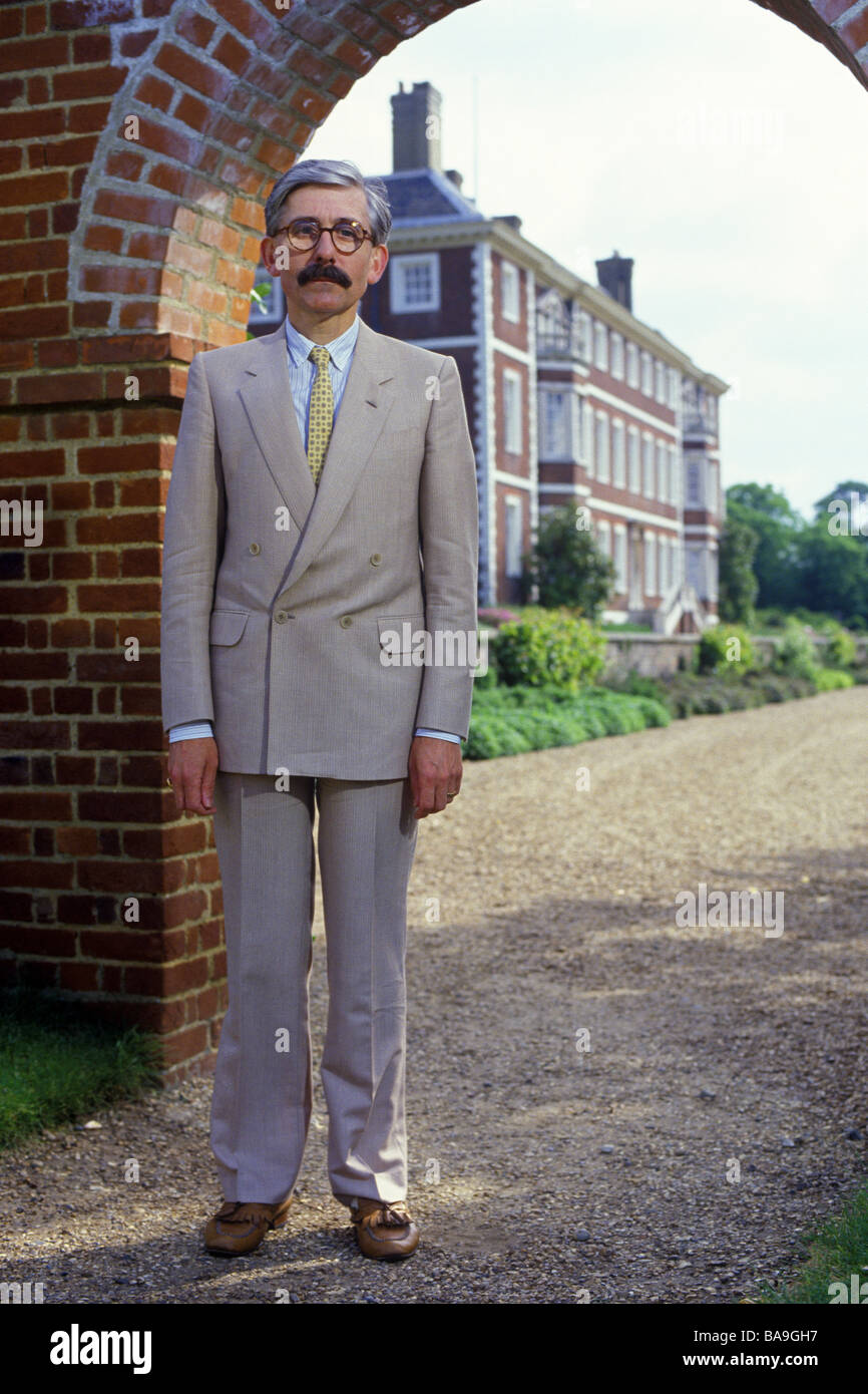 Sir Roy Strong former Director of the Victoria & Albert Museum London PER0150 - Stock Image