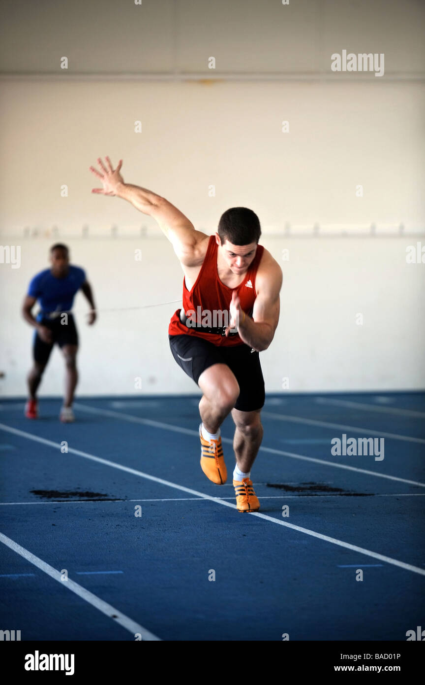 THE SPRINTER CRAIG PICKERING TRAINING AT THE UNIVERSITY OF BATH UK 2008 - Stock Image