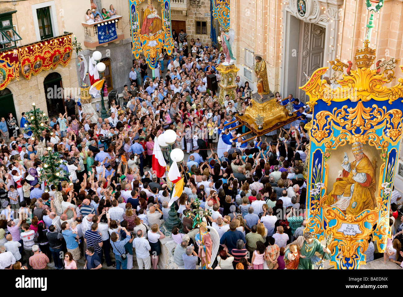 Malta, the Center, Ghaxaq, the annual festa of the villageStock Photo