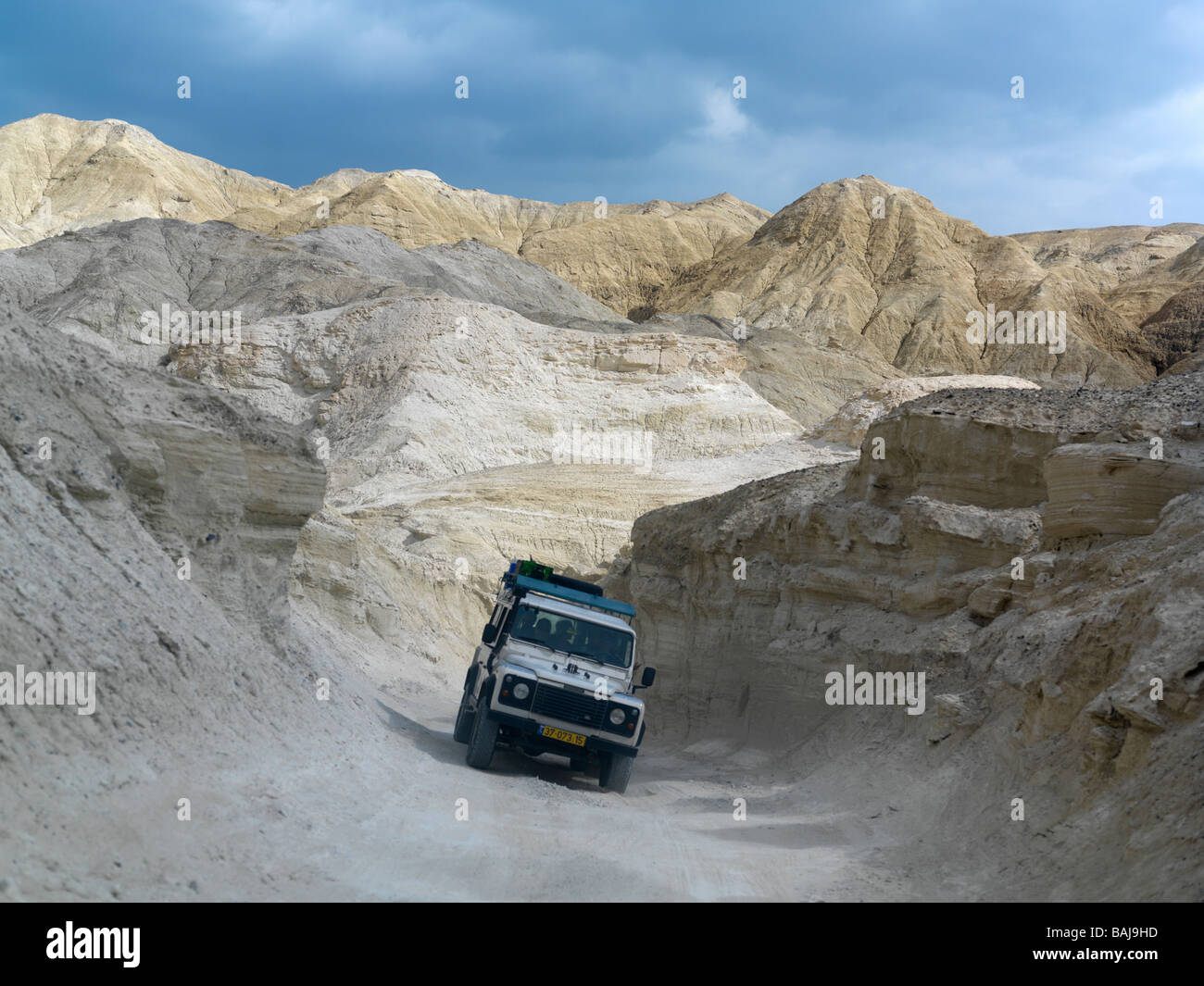 Israel  jeep tour of Mount Sodom just south of Ein Bokek - Stock Image