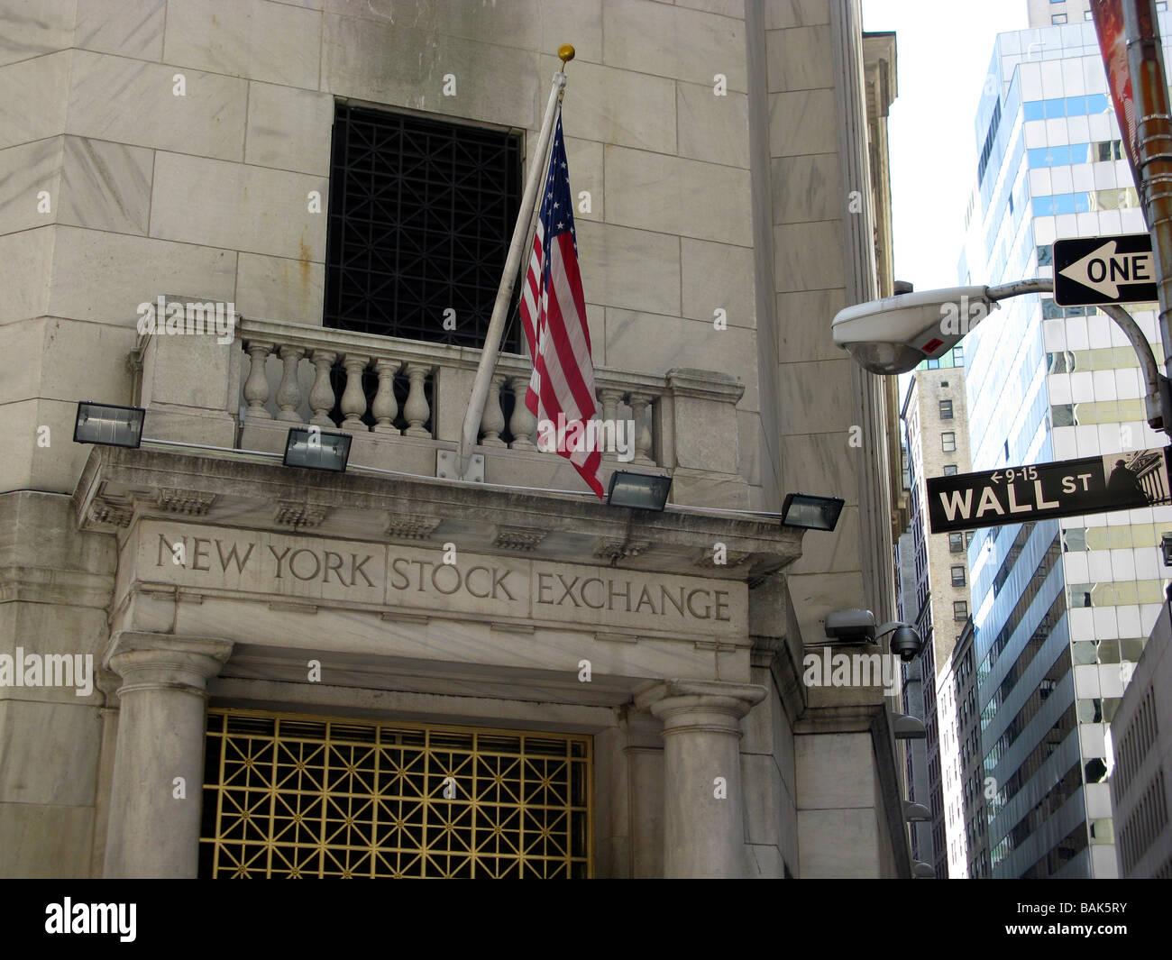 USA NEW YORK New York City NEW YORK STOCK EXCHANGE Wall Street - Stock Image
