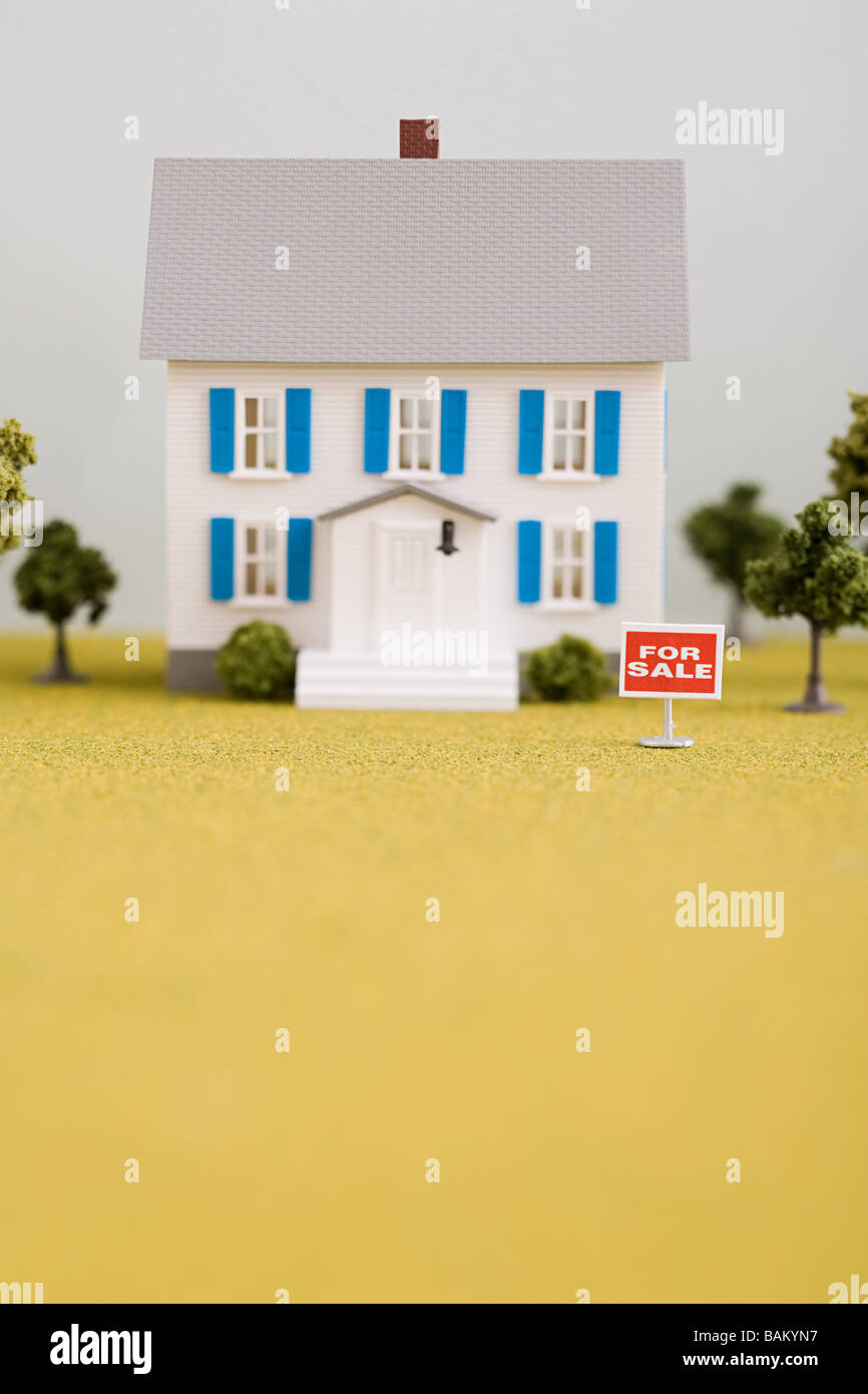 Model of house for sale - Stock Image