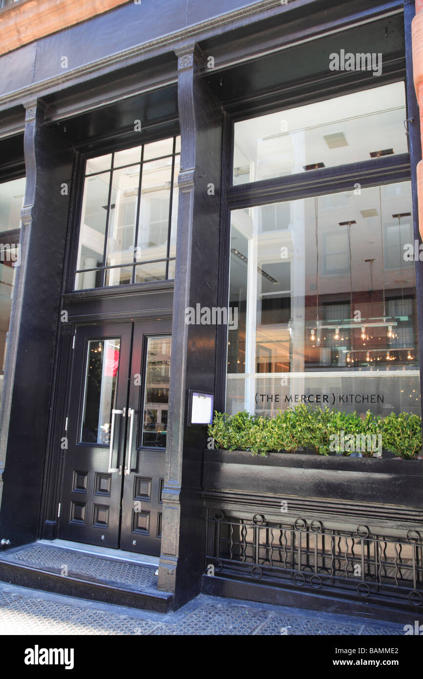the mercer kitchen in soho on prince street a fine dining restaurant