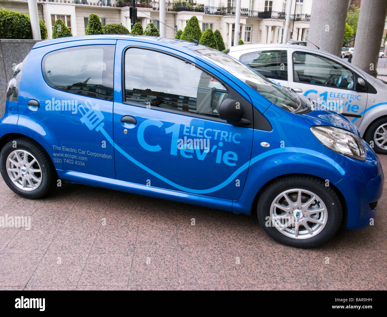 C1 ev'ie electric car based on Citroen C1 from the Electric Car Corporation, Launched in London 30 April 2009 - Stock Image