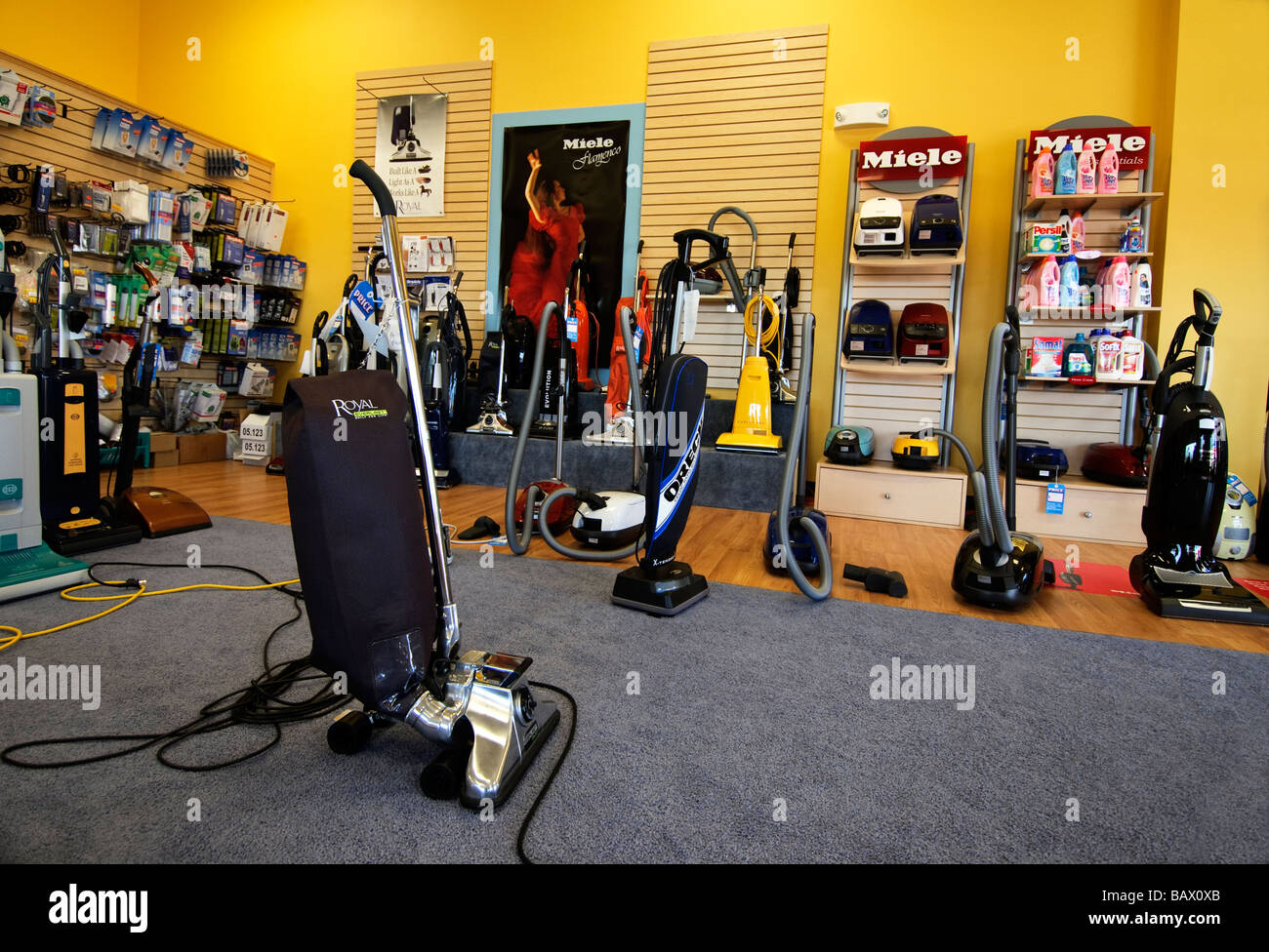 Good Vacuum Cleaner Store Royal U0026 Repair Shop   Stock Image