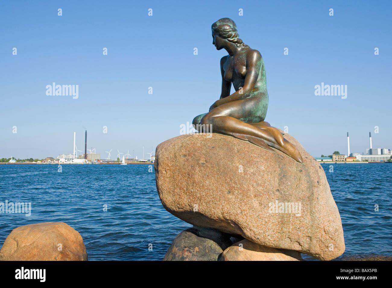 Copenhagen, Denmark; The Little Mermaid statue - Stock Image