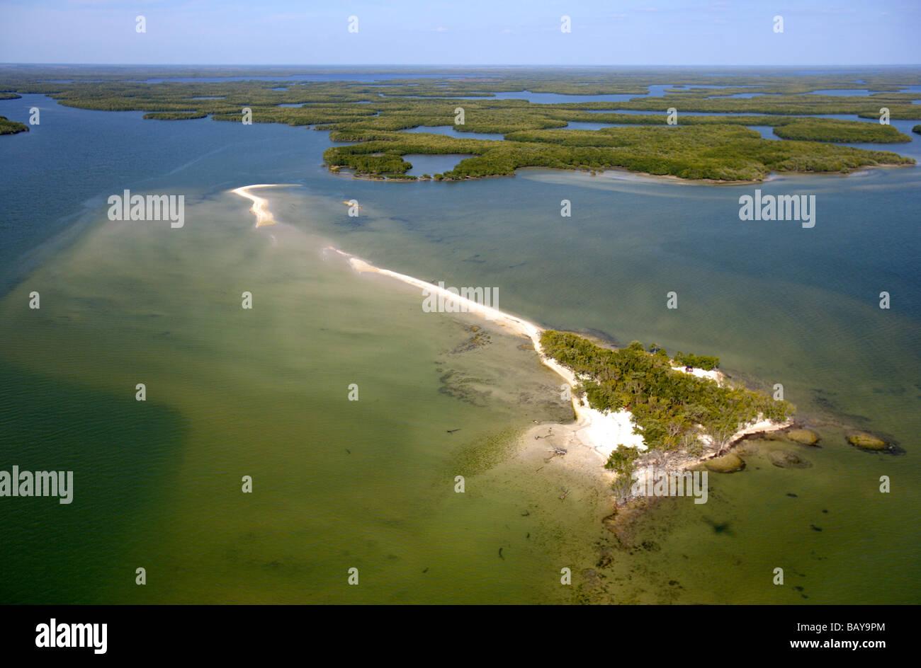 Aerial view of Ten Thousand Islands National Wildlife Refuge, Florida, USA - Stock Image
