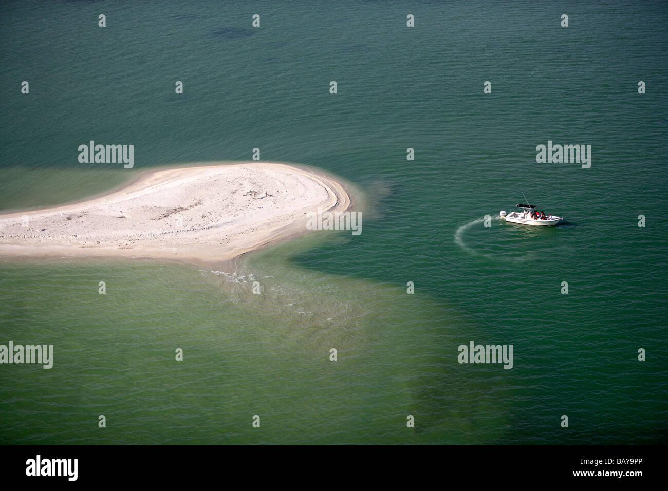 Sandbar at Marco Island, Ten Thousand Islands, Florida, USA - Stock Image