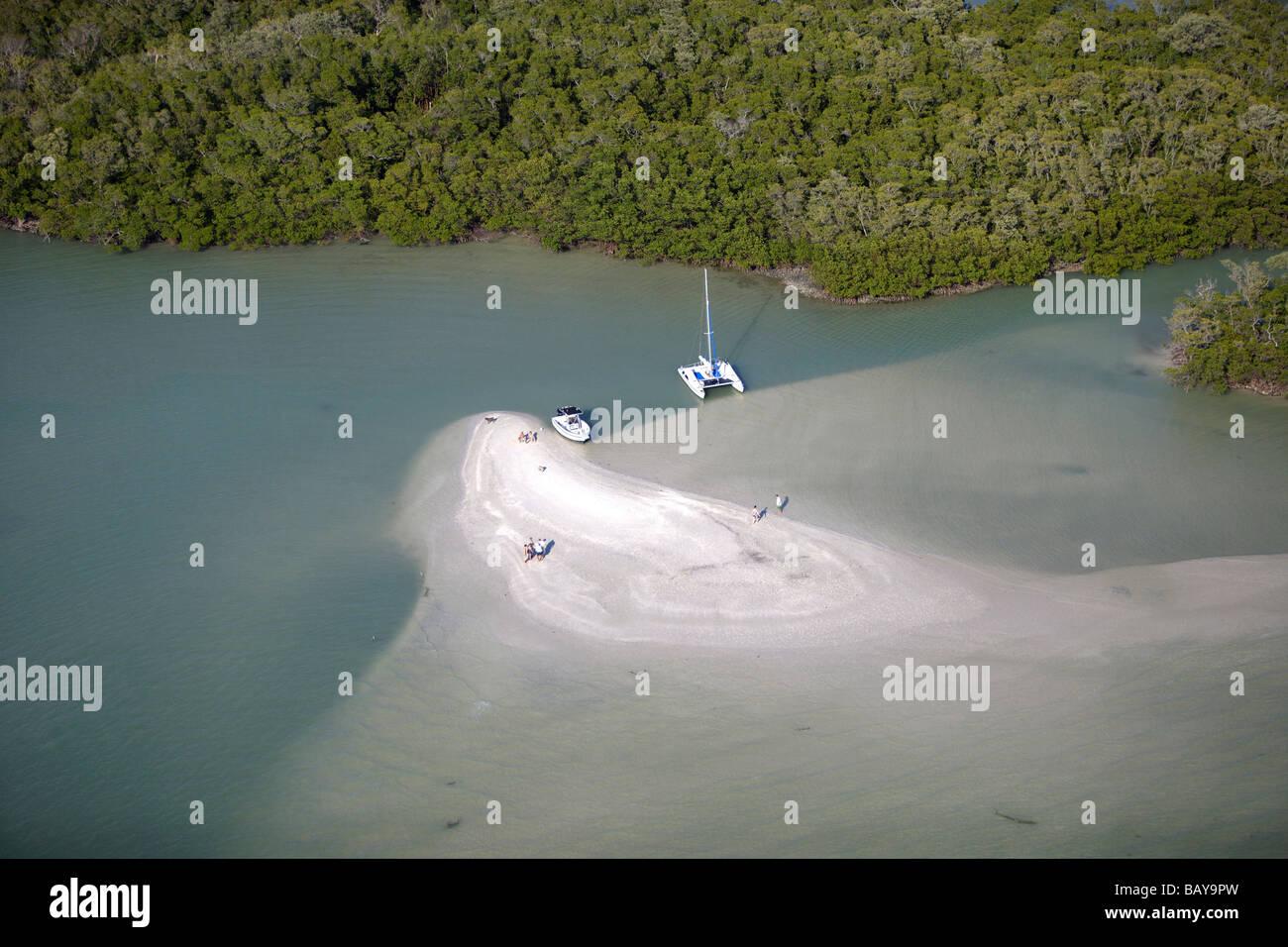One island at Ten Thousand Islands National wildlife refuge, Florida, USA - Stock Image