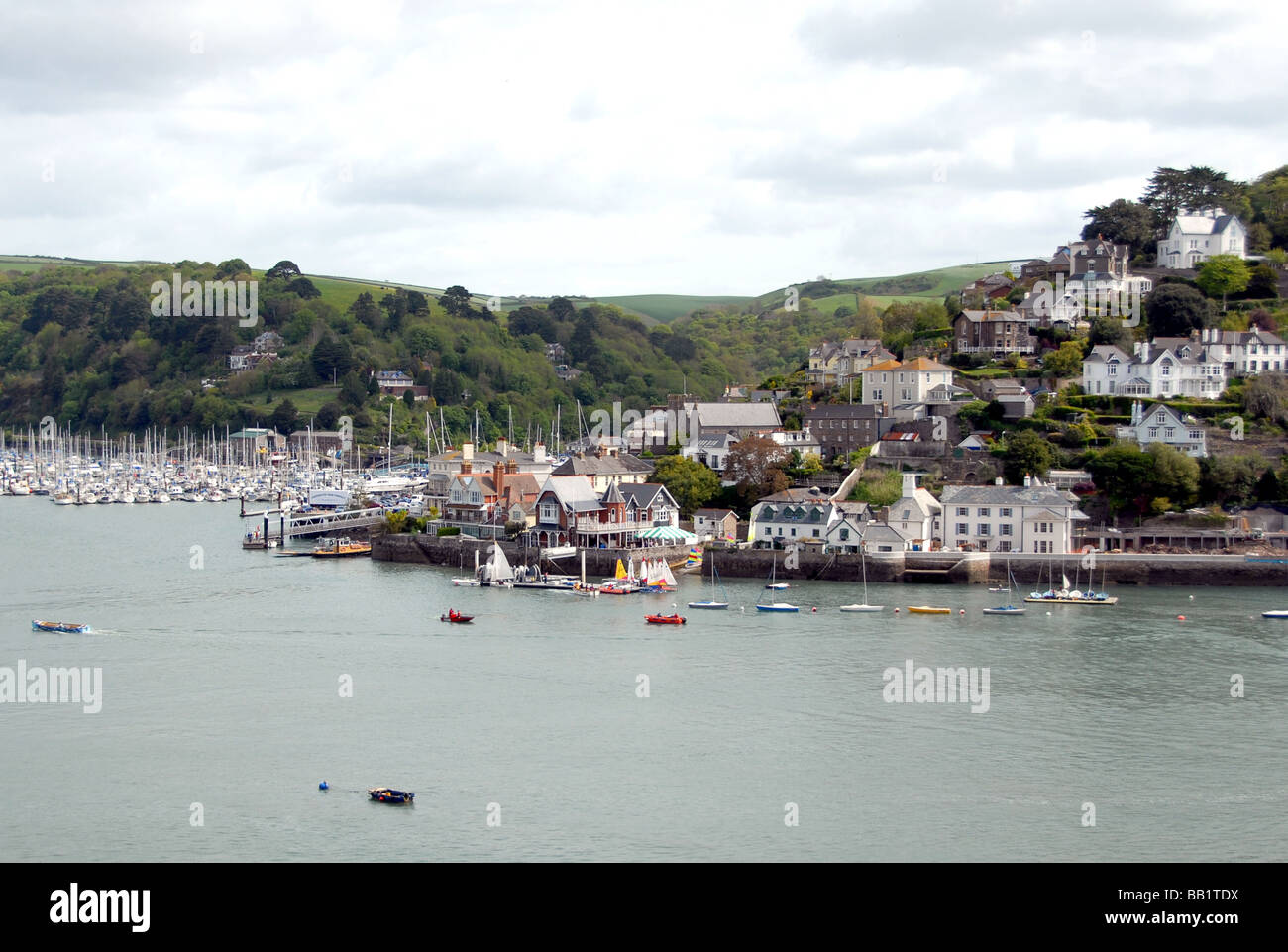 Dartmouth And Kingswear On The Estuary Of River Dart In Devon England