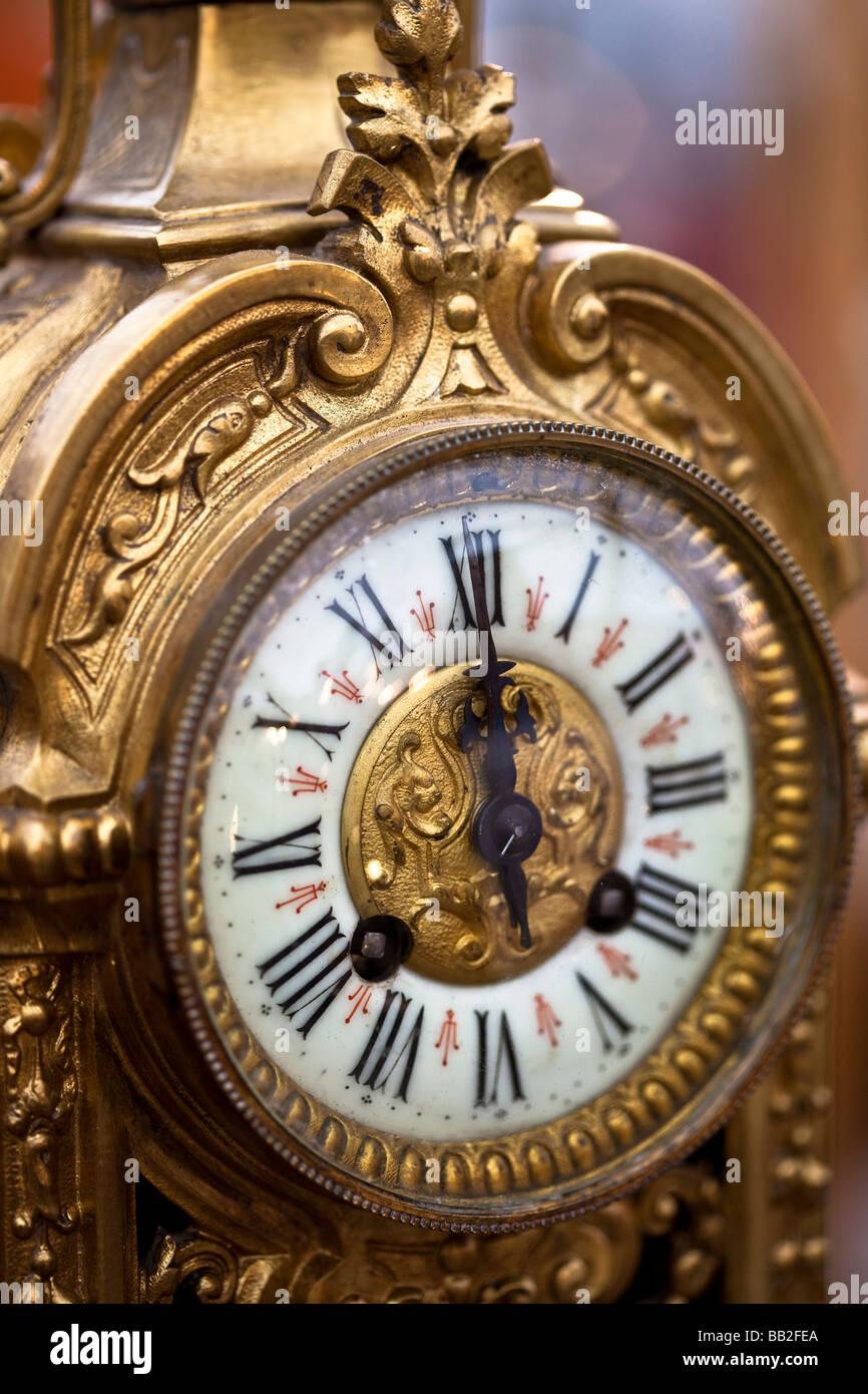 antique clock face at the antiques market neuchatel switzerland