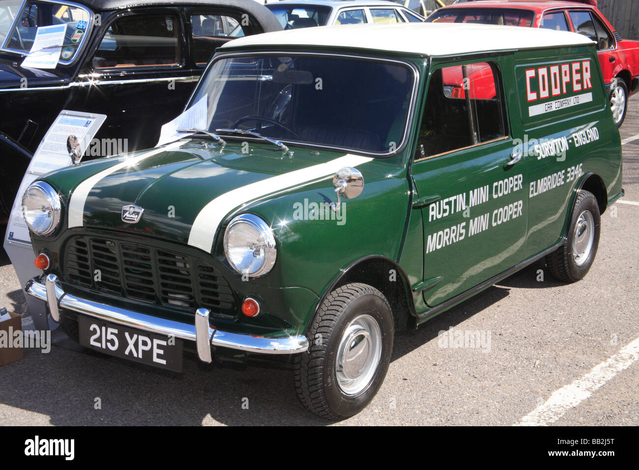 BMC Mini Cooper work van - Stock Image