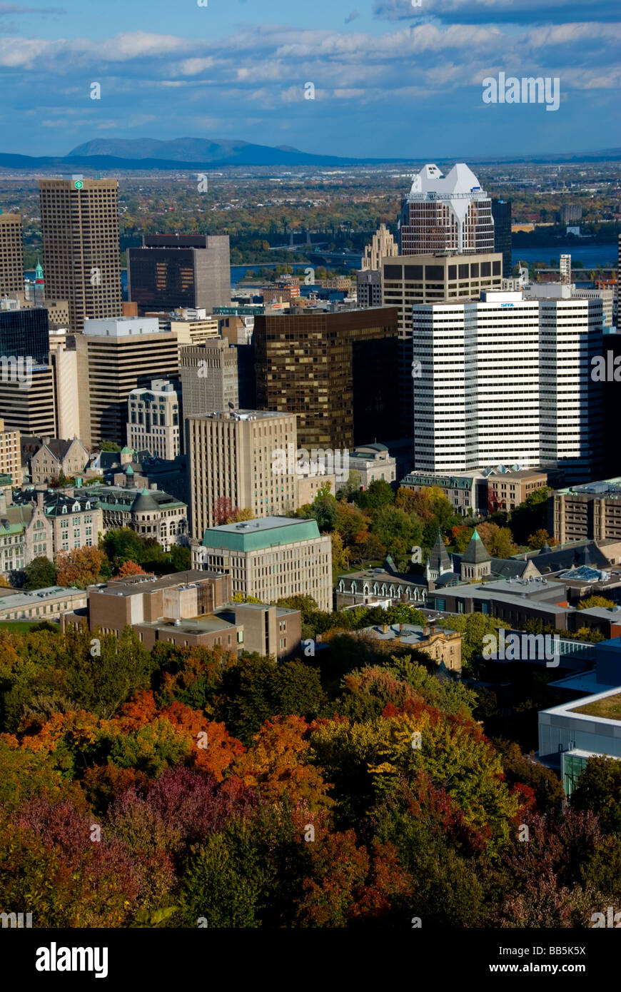 Canada, Quebec, Montreal cityscape - Stock Image