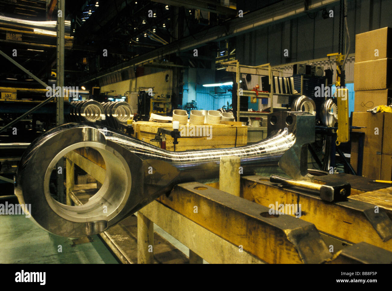Modern cruise ship building: diesel engine components ...
