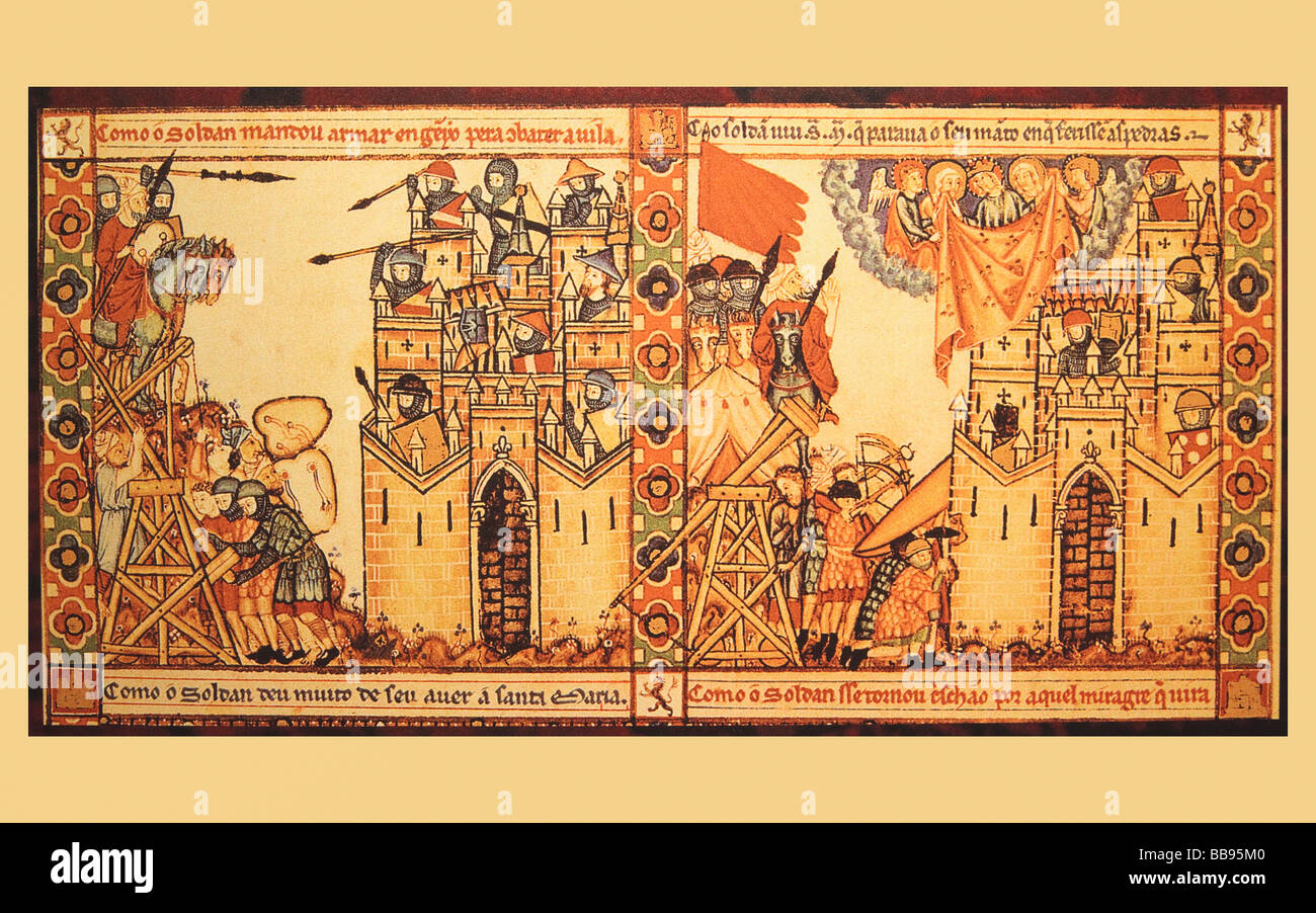 weapons used in the seige and defense of castles in the 13th century