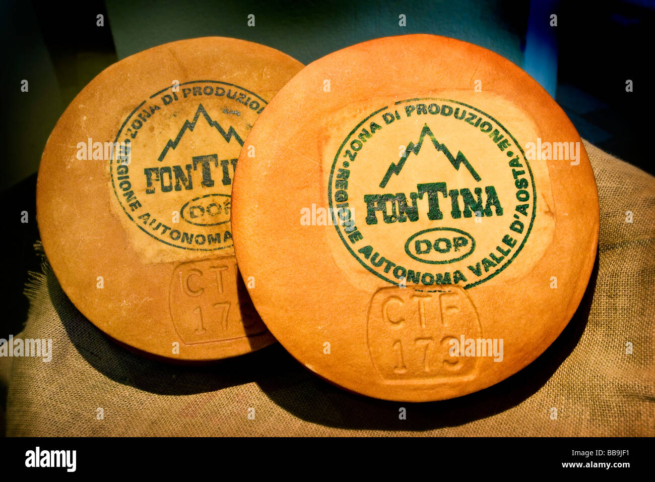 Cheese Fontina Valpelline Italy Stock Photo