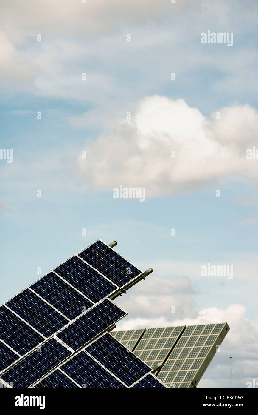 Solar energy power plant - Stock Image