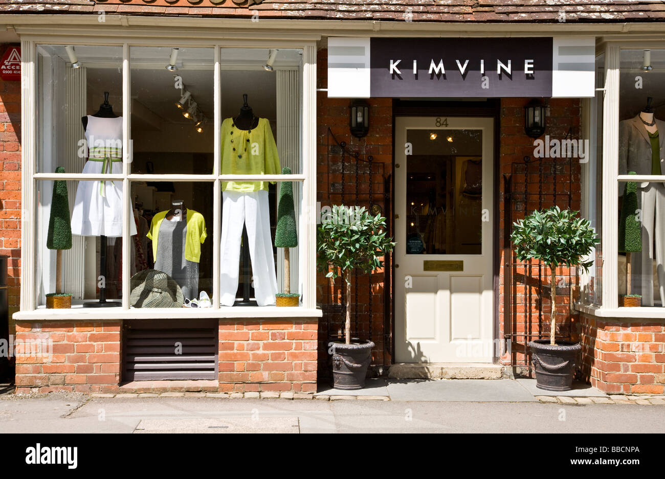 2e5d4947aac8f Window display of an upmarket ladies fashion clothing shop or Stock ...