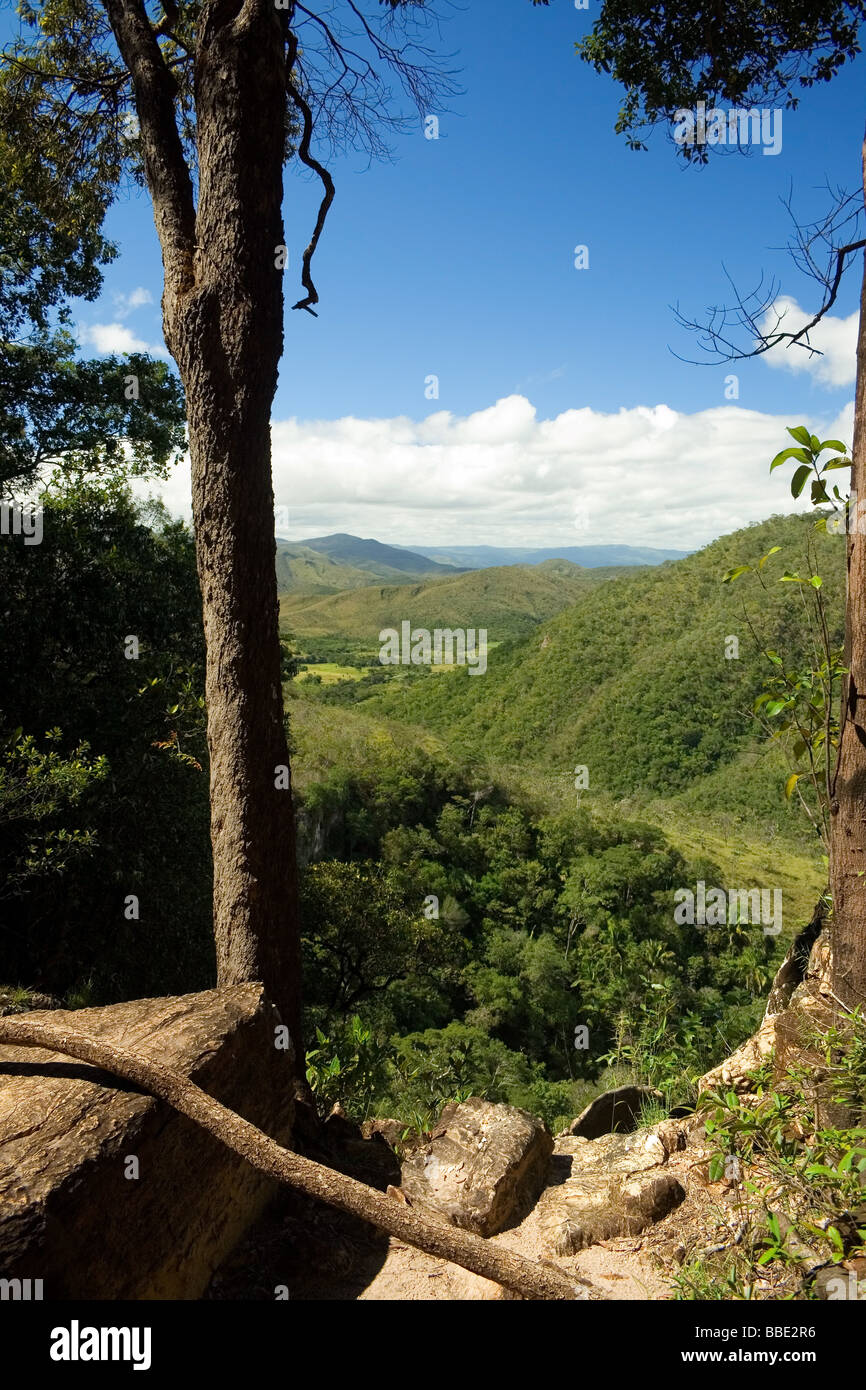 On the Way to Agua Fria Waterfall Chapada dos Veadeiros Veadeiros Tableland Goias Brazil Stock Photo