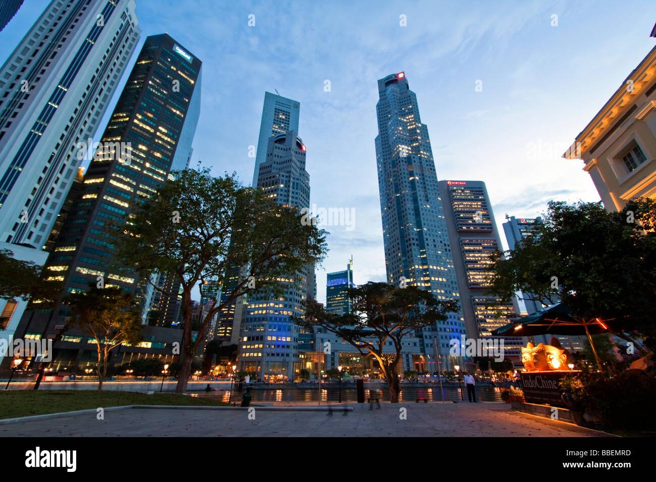 Asia Singapore singapur skyline panorama - Stock Image
