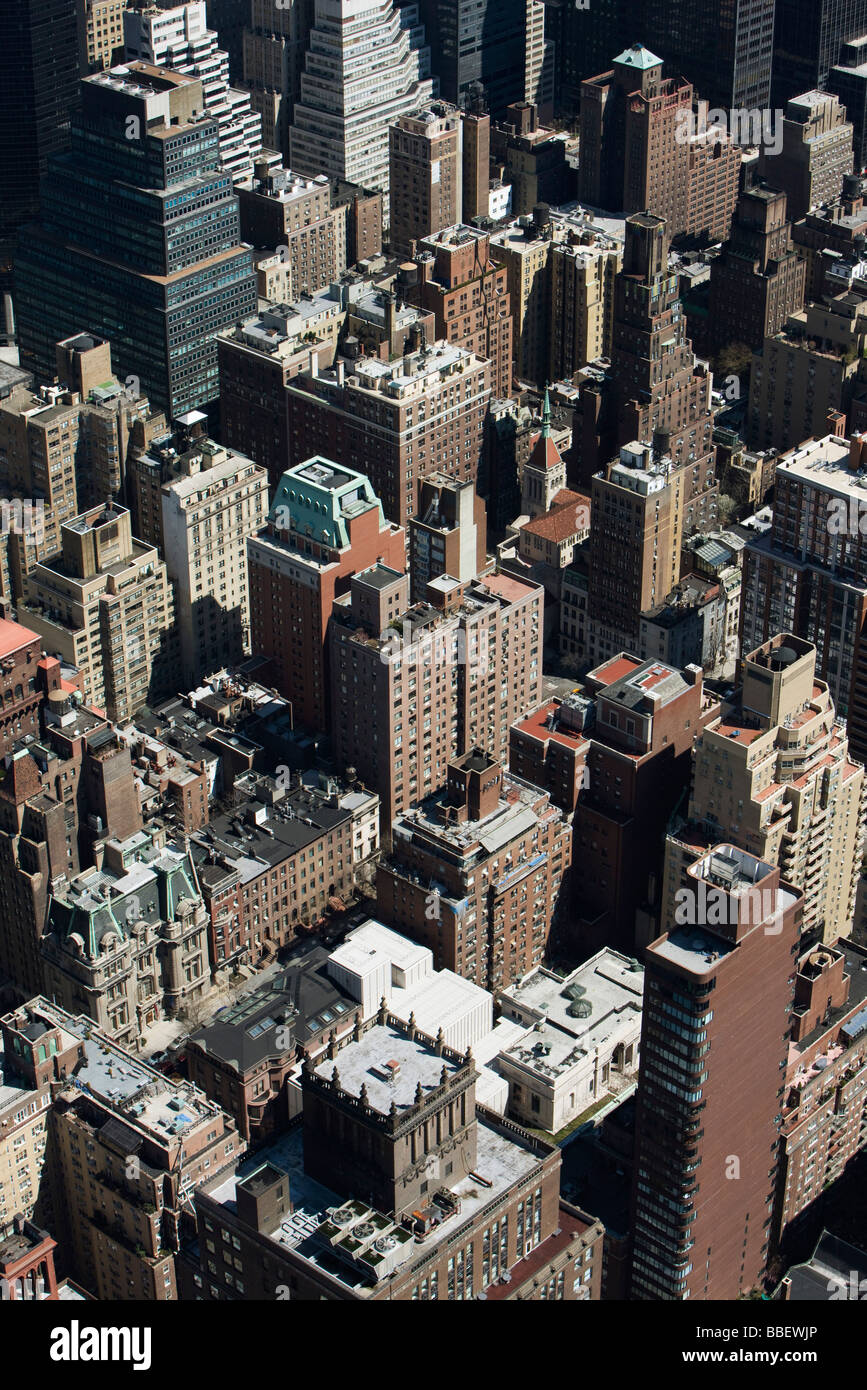New York City, aerial view - Stock Image