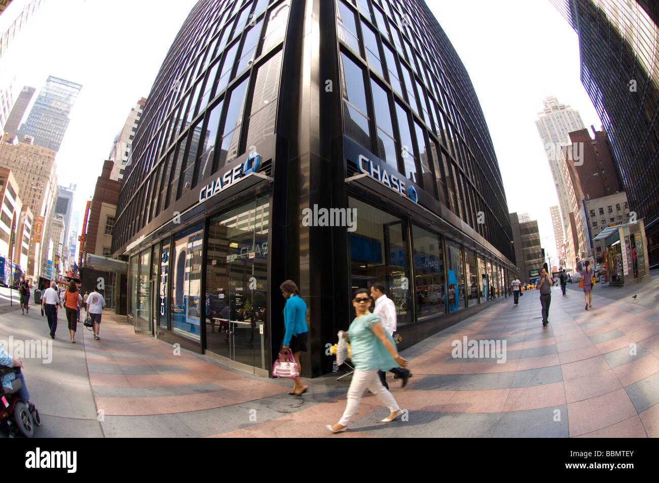 a jp morgan chase bank branch in midtown in new york on friday may