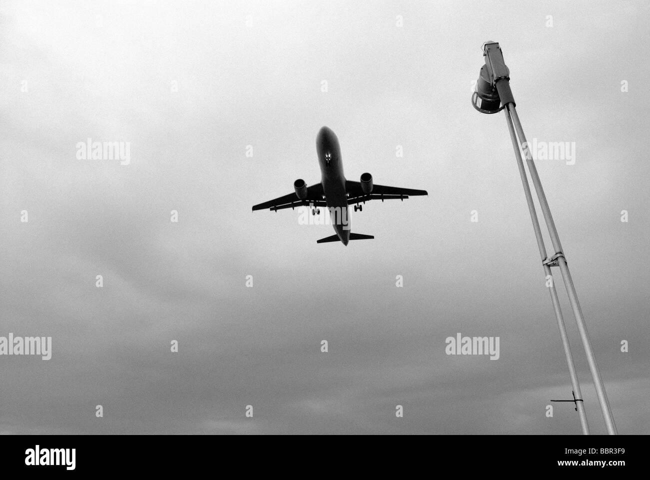 AIRCRAFT DURING LANDING - Stock Image