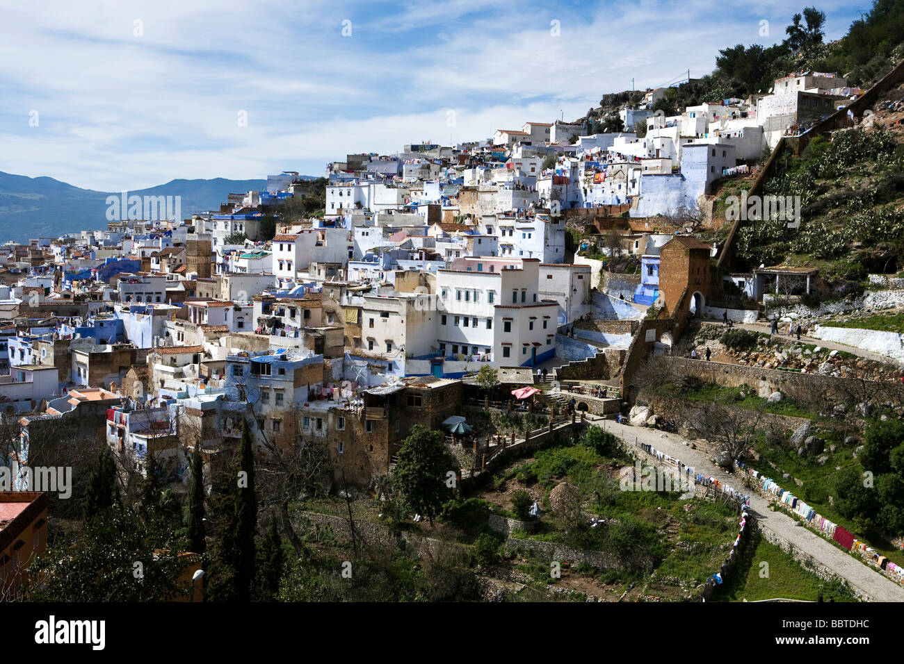 View of Chefchaouen, Morocco, North Africa - Stock Image