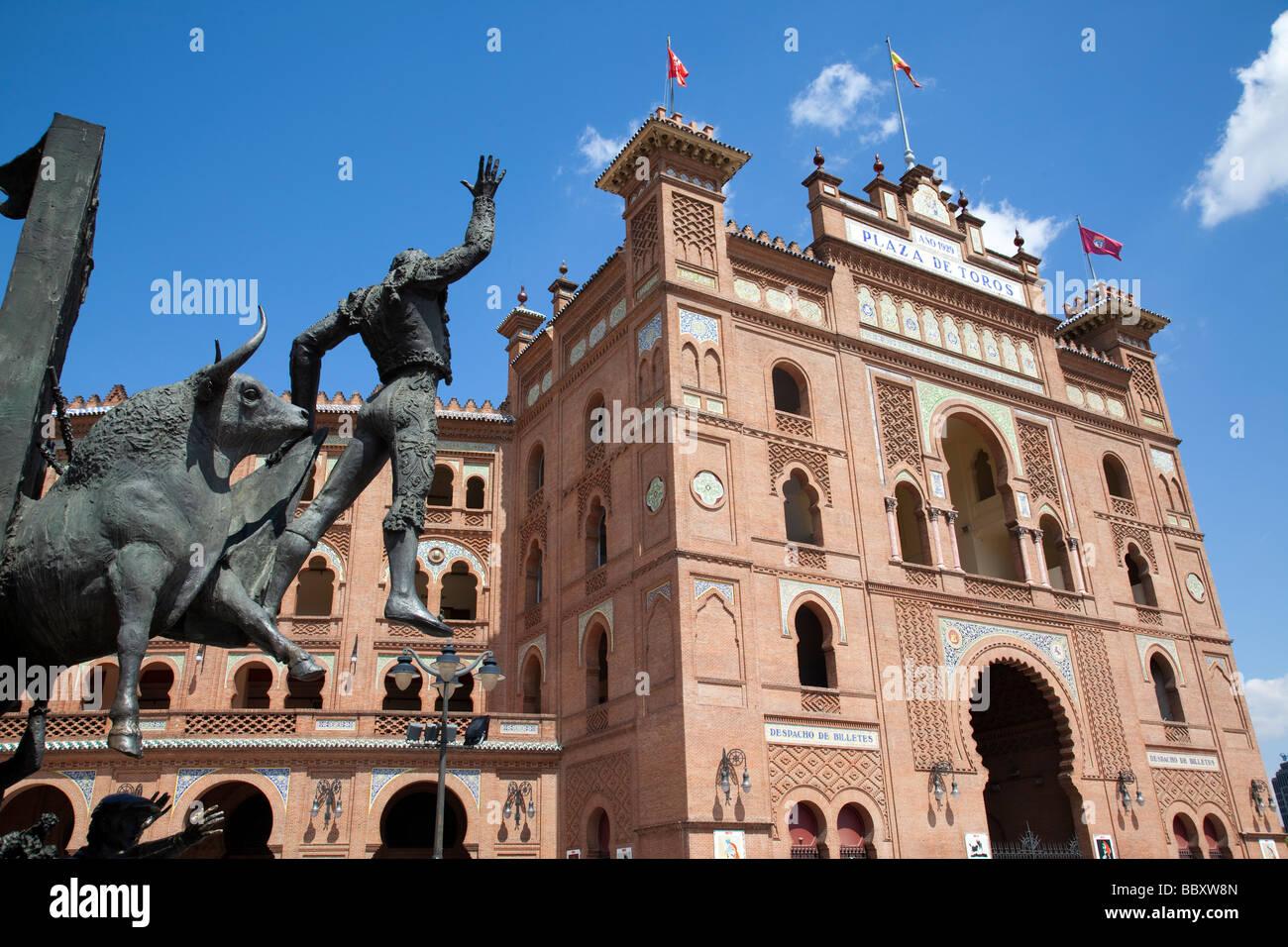 Plaza de Toros de Las Ventas bullring, Madrid, Spain - Stock Image