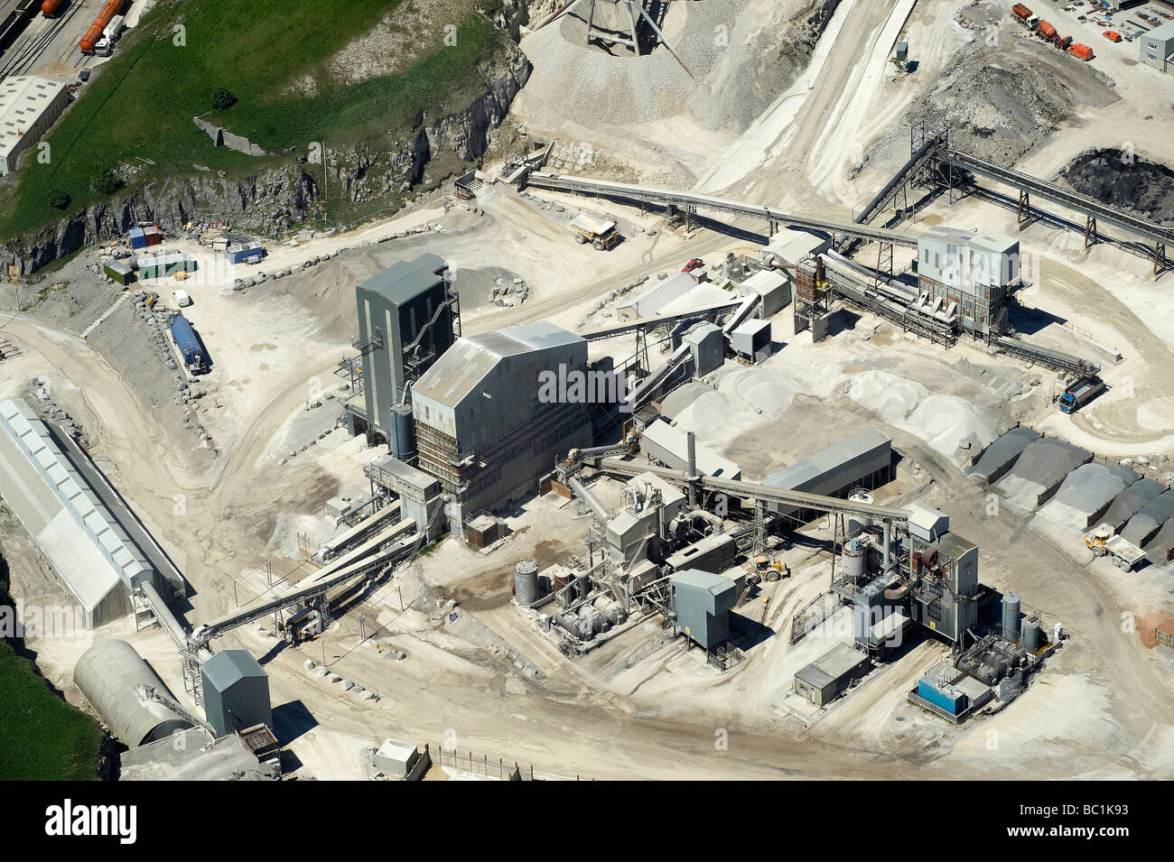 Quarrying Operations, Derbyshire Peak District, Northern England - Stock Image