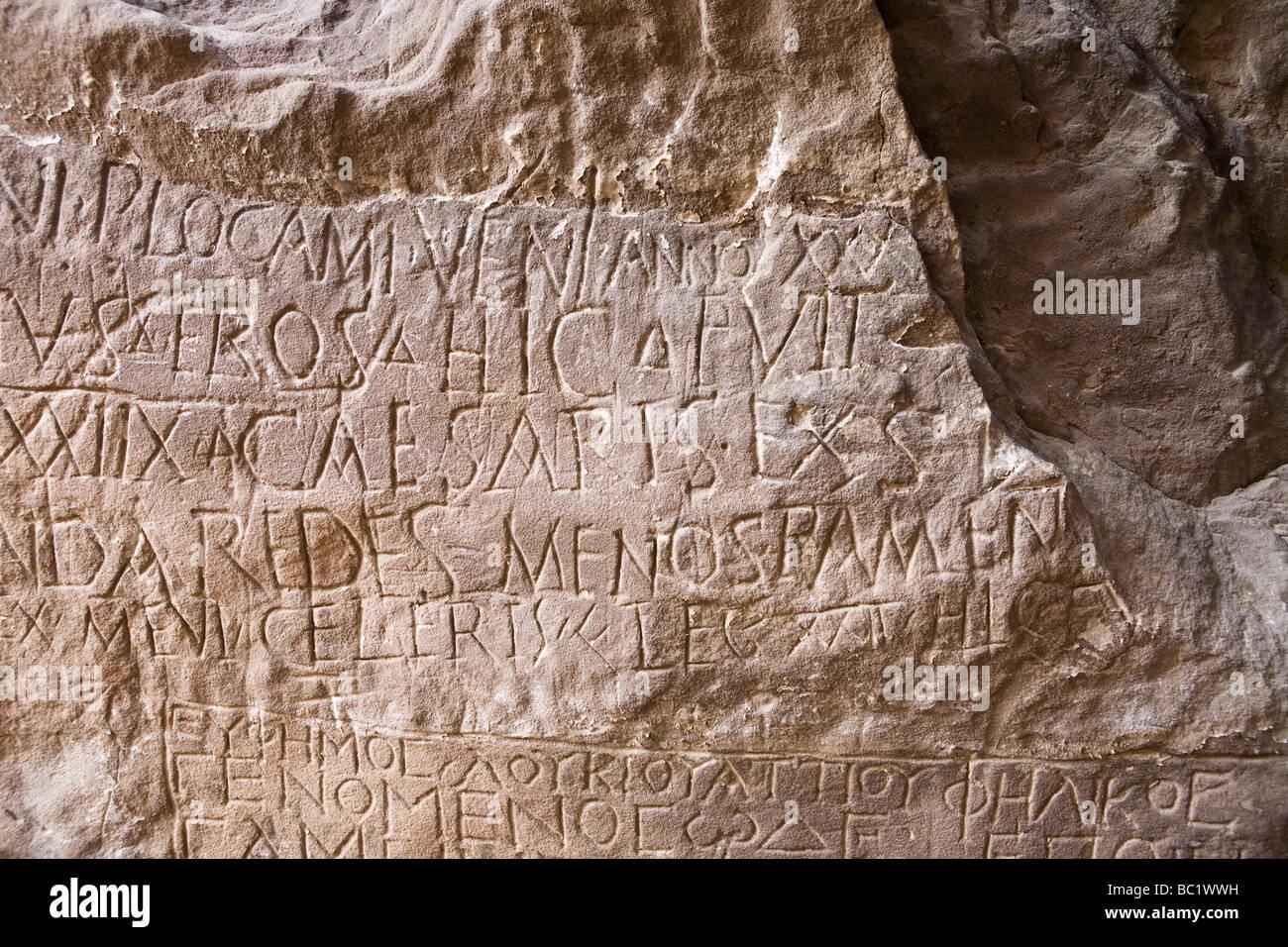 Rock-art inscriptions in the Eastern Desert of Egypt, North Africa - Stock Image