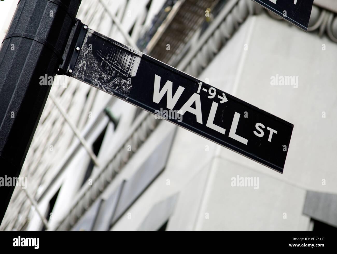 New York stock exchange Manhattan NY - Stock Image