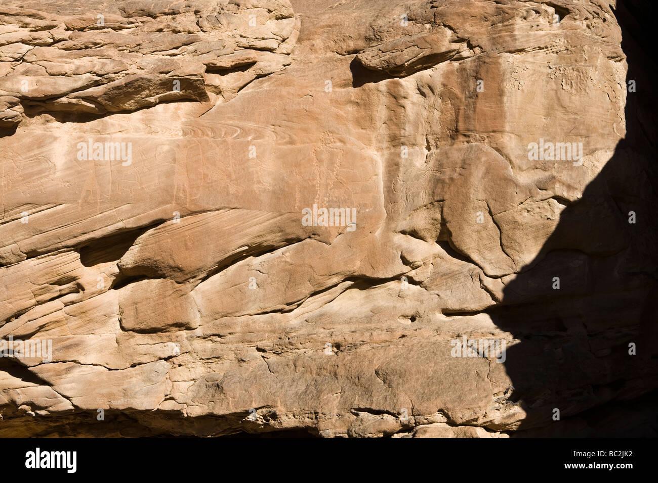 Rock-art in the Eastern Desert of Egypt, North Africa - Stock Image