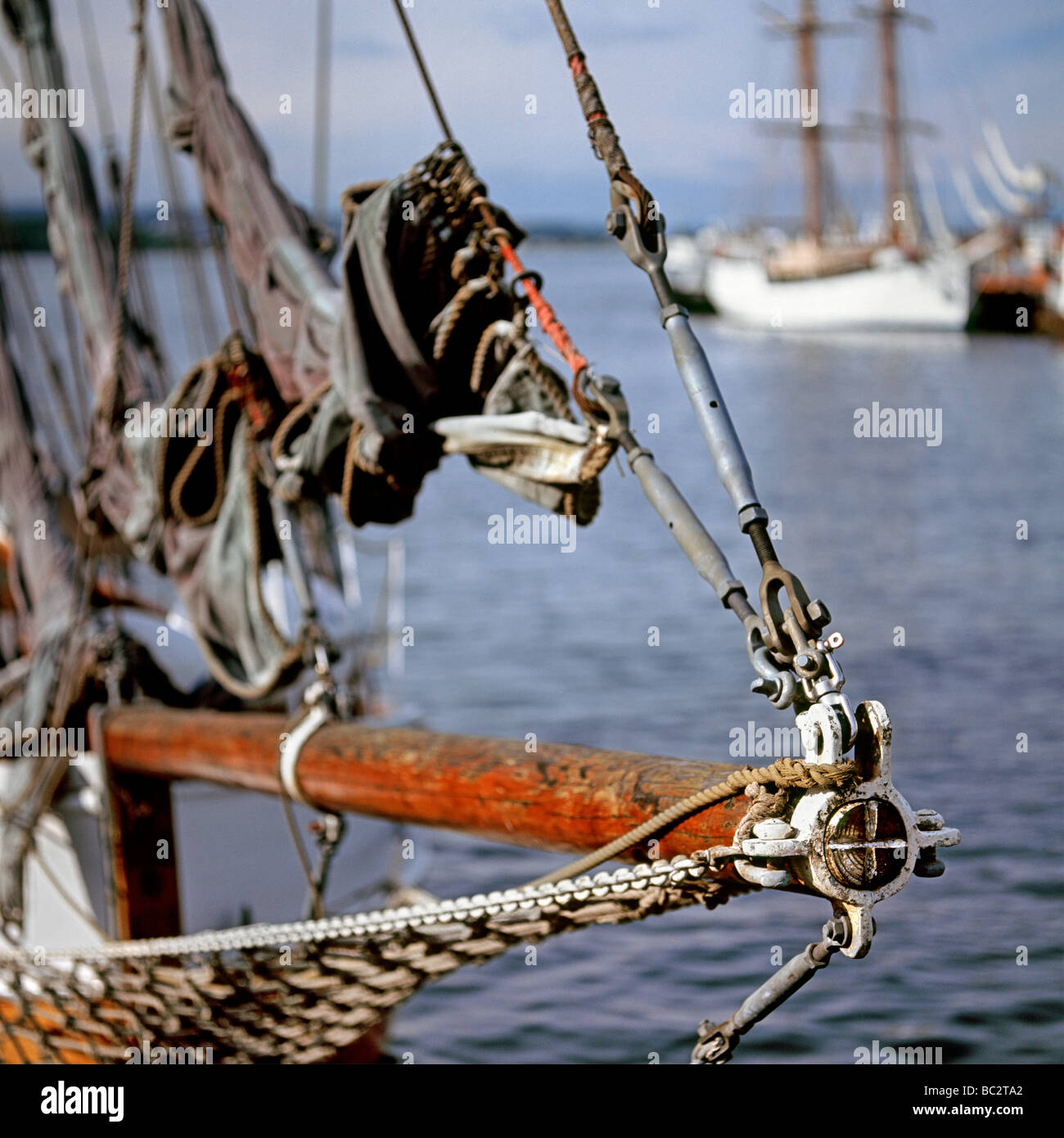 The close up of the tall ship's nose - Stock Image
