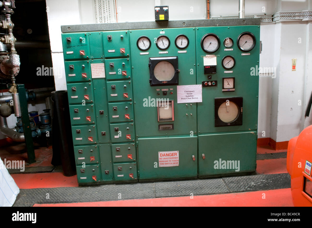 Large office building boiler room control panel for steam heating ...