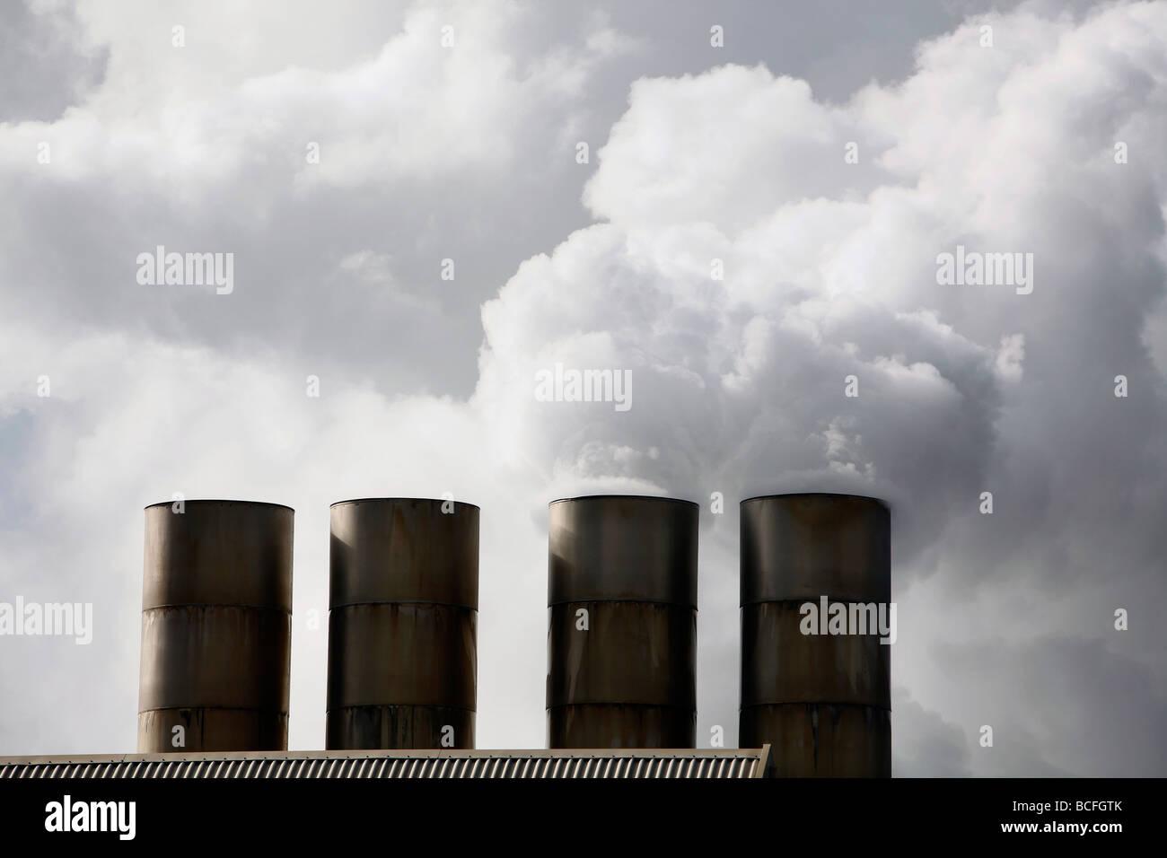 Geothermal energy plant Iceland - Stock Image