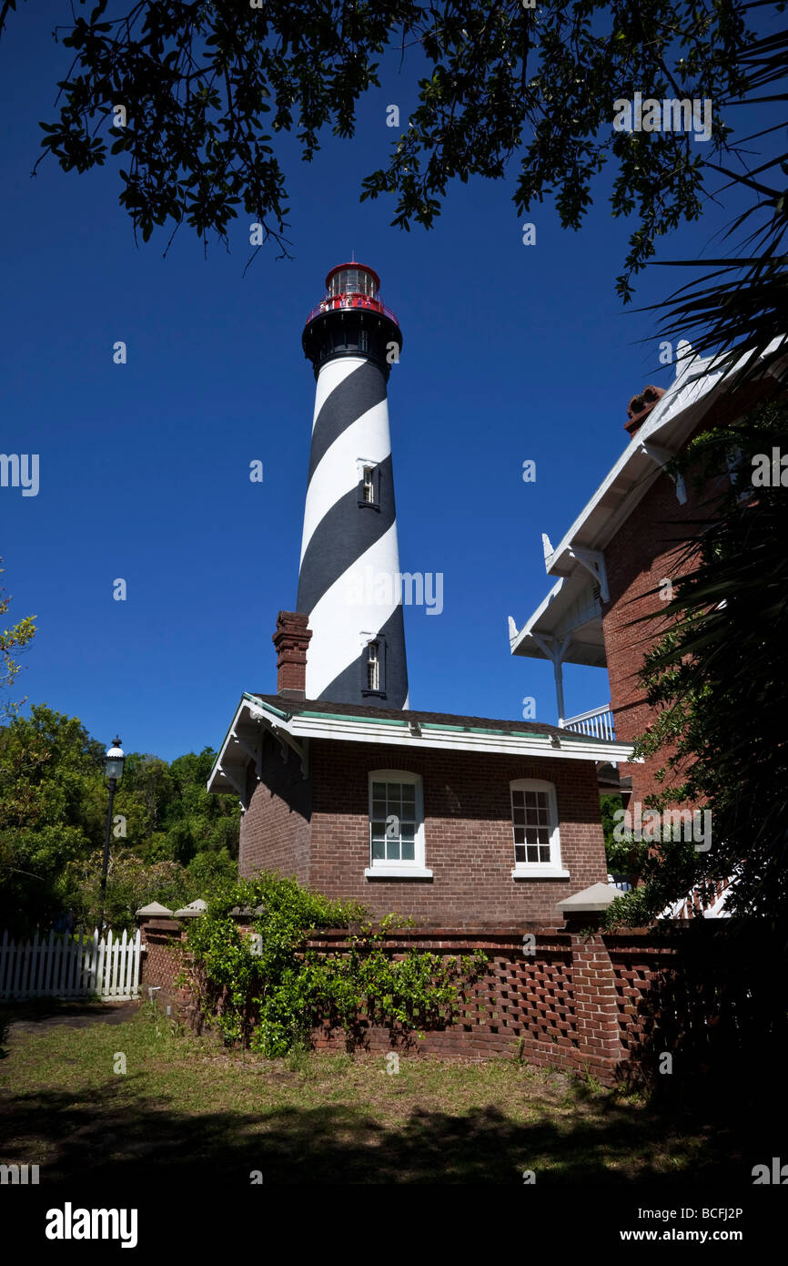 The lighthouse at St Augustine in Florida. USA America's most haunted - Stock Image