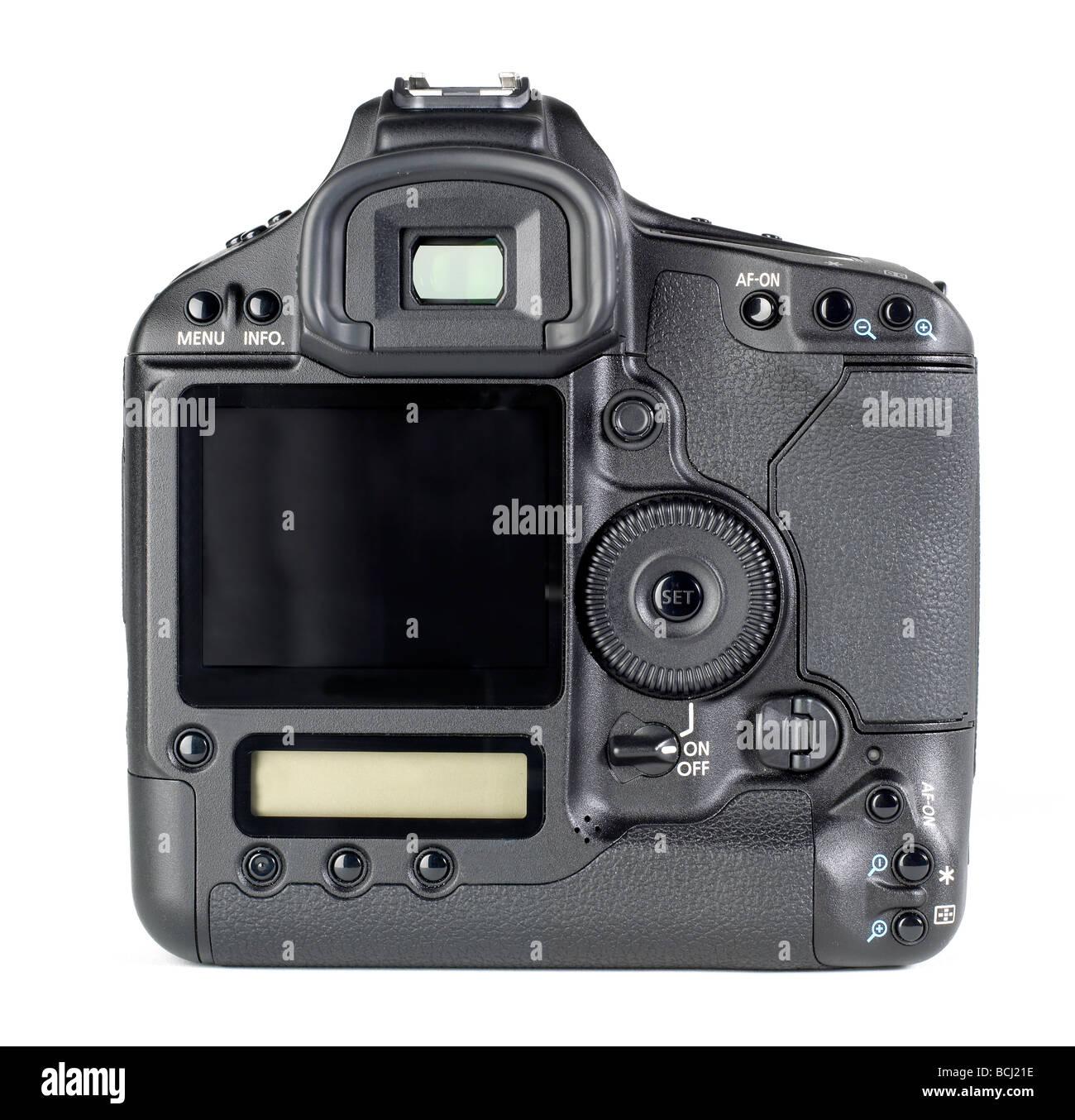 35mm DSLR camera body back digital Format - Stock Image