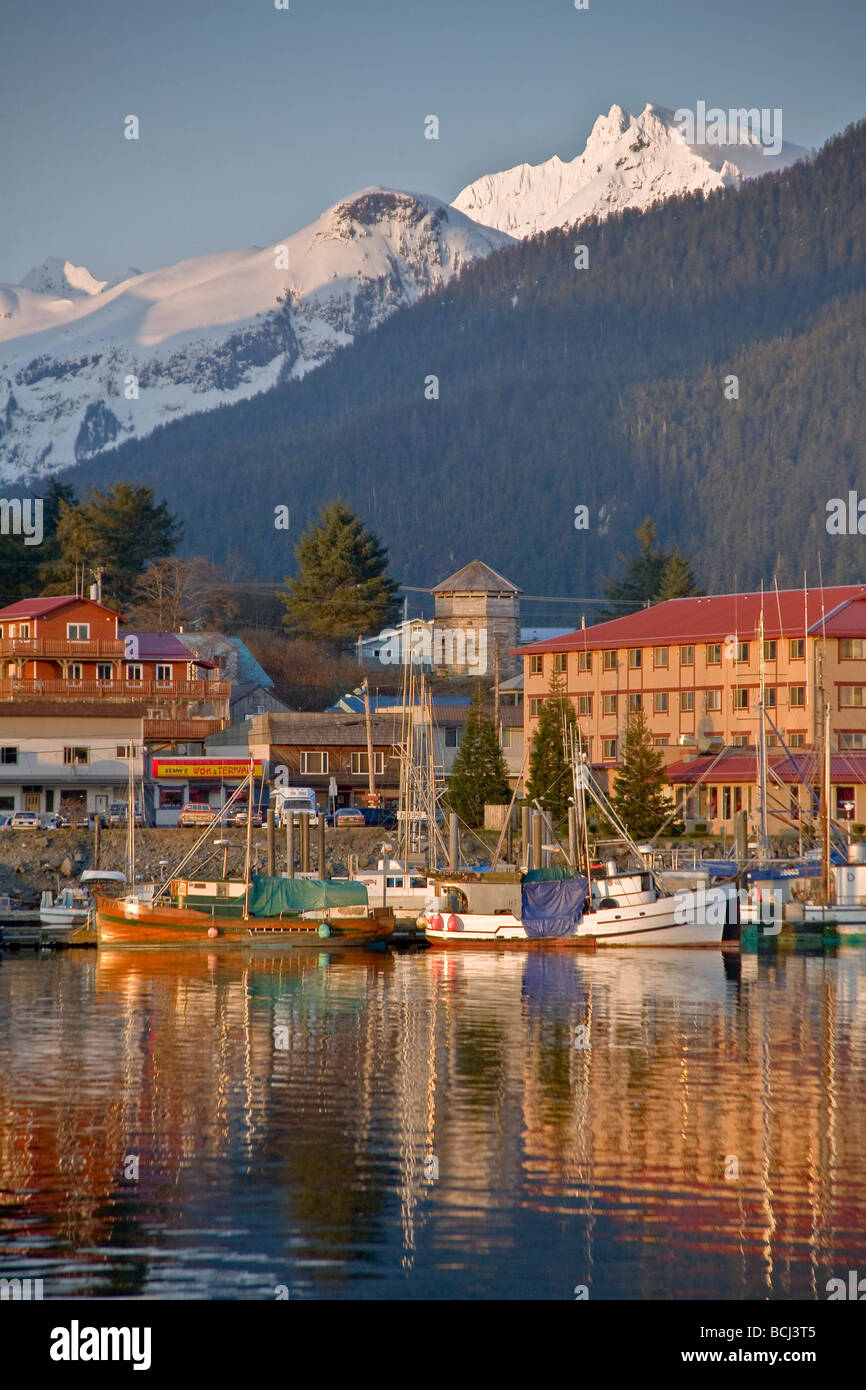 downtown-sitka-and-and-small-boat-harbor