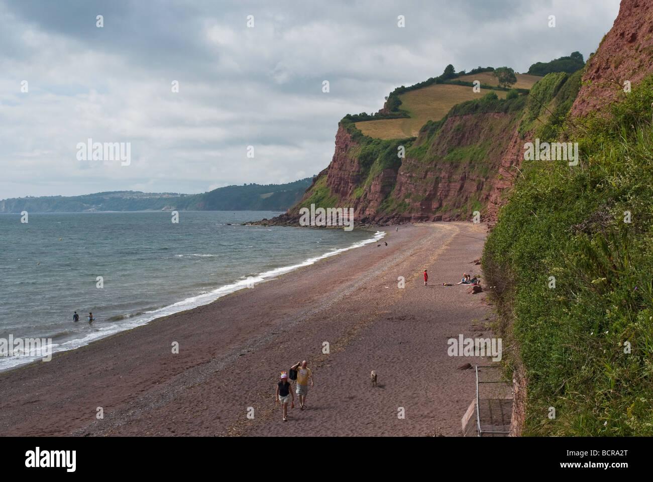 Ness Cove, Shaldon, Devon Stock Photo