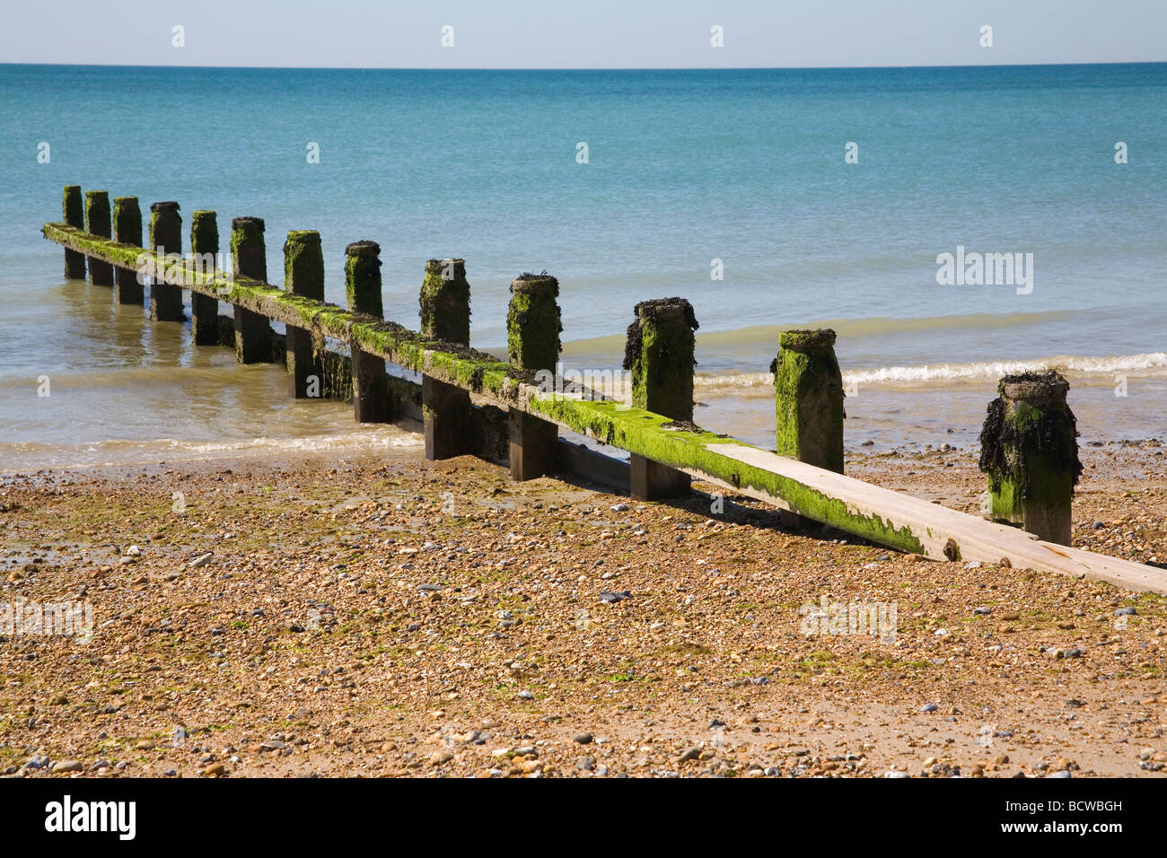 Angmering beach West Sussex Stock Photo